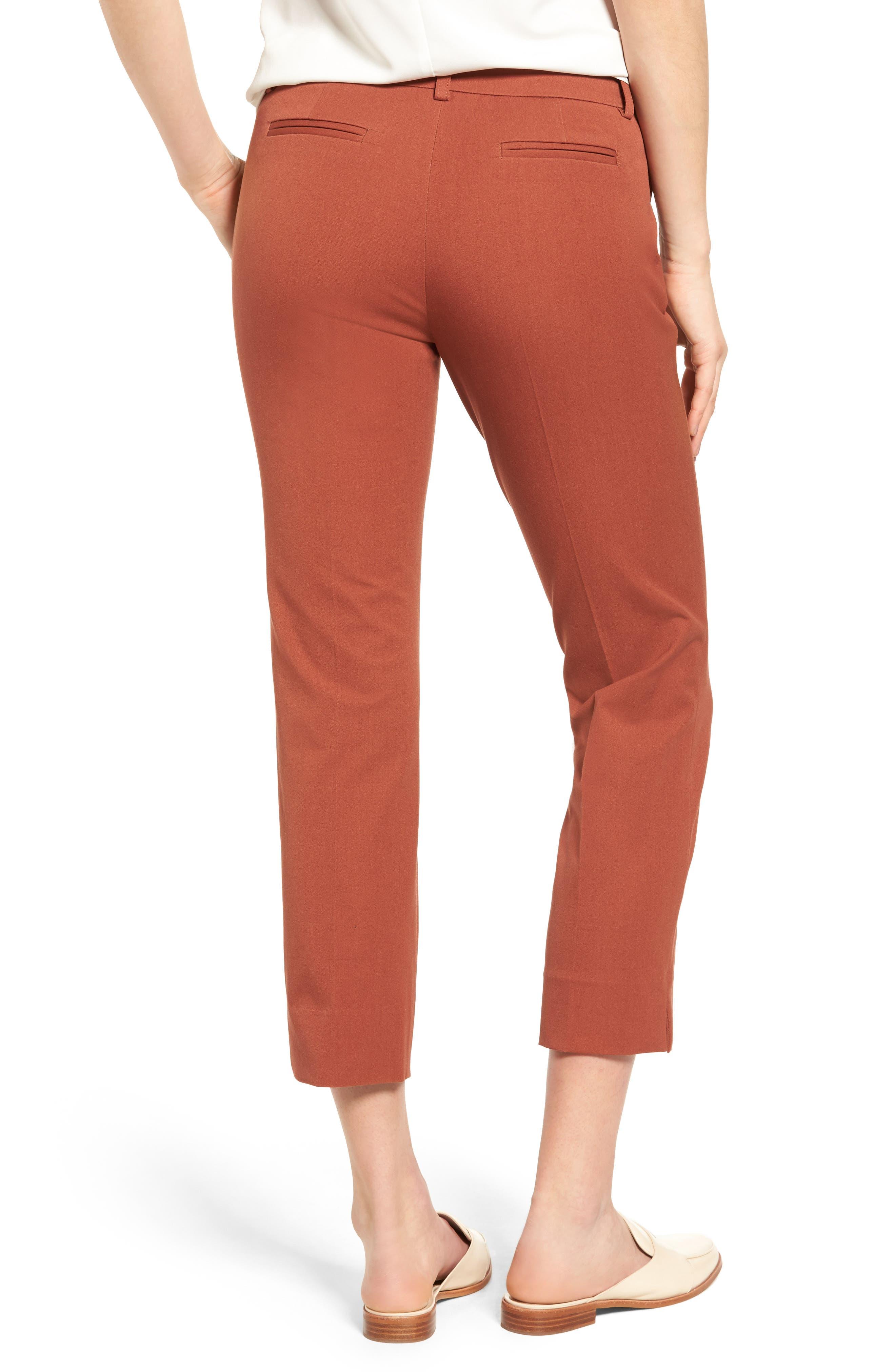 Crop Stretch Cotton Pants,                             Alternate thumbnail 32, color,