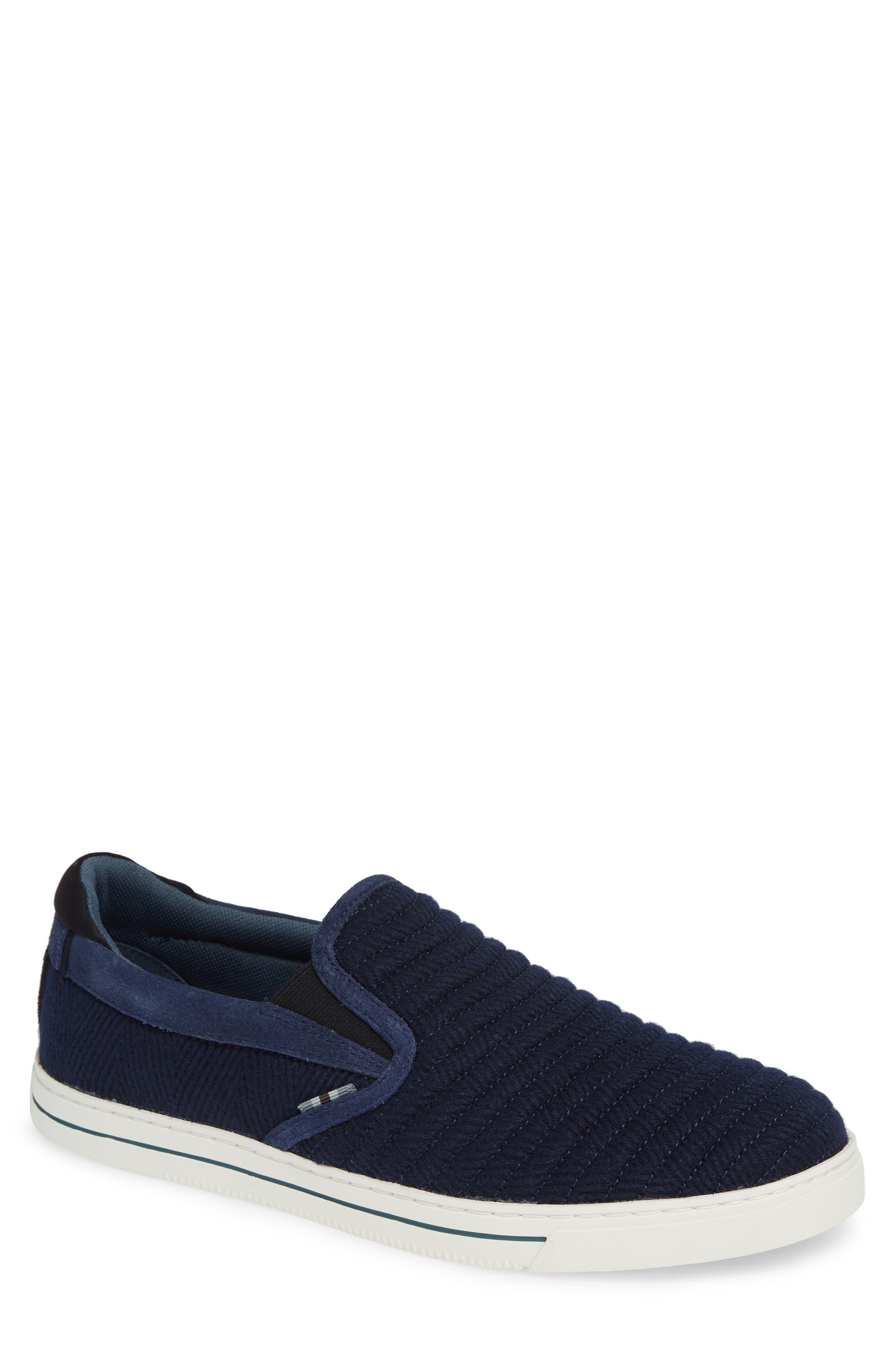Daniam Slip-On Sneaker,                         Main,                         color, DARK BLUE WOOL