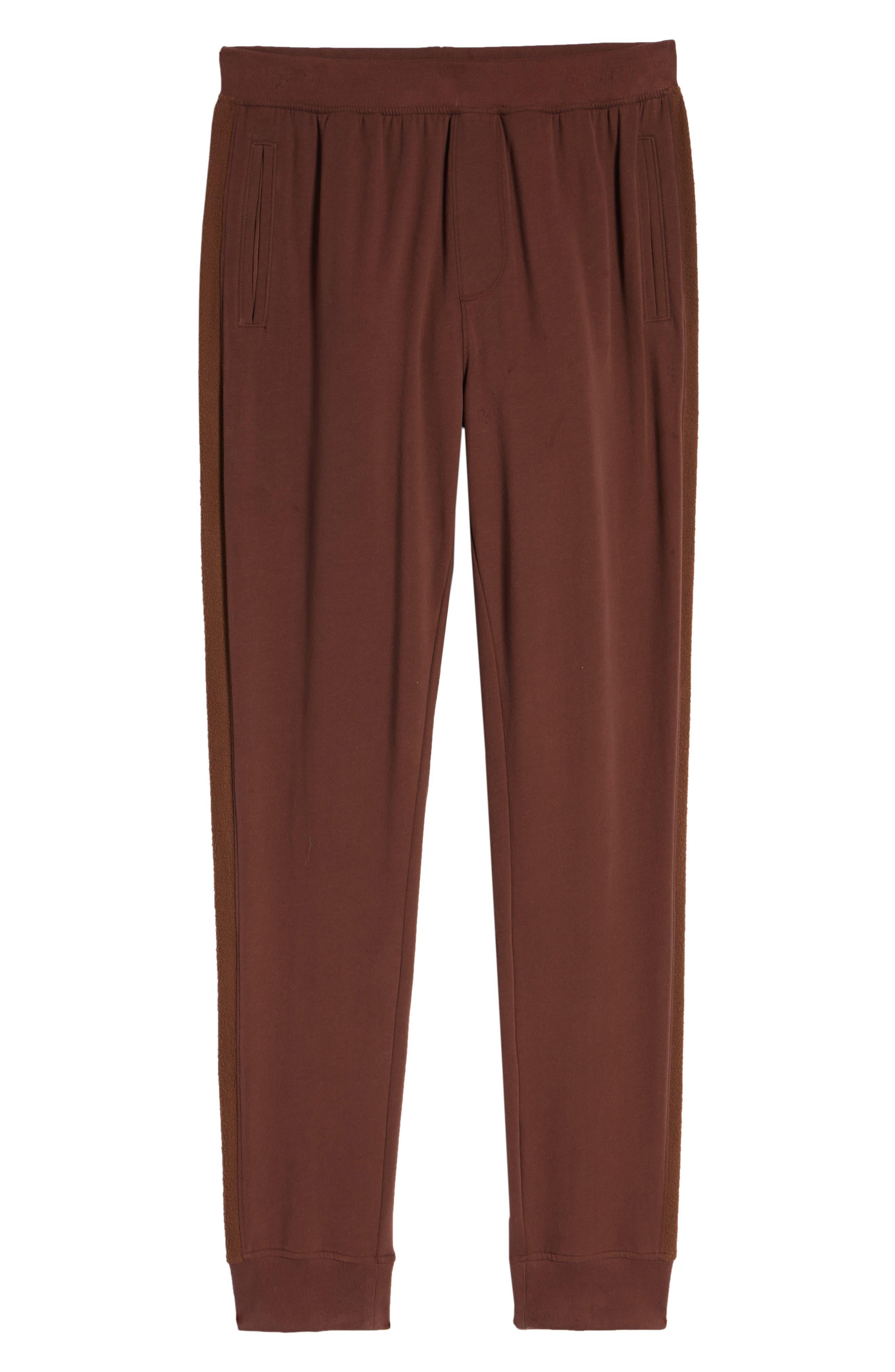 Slim Fit Sweatpants,                             Alternate thumbnail 6, color,                             WINE