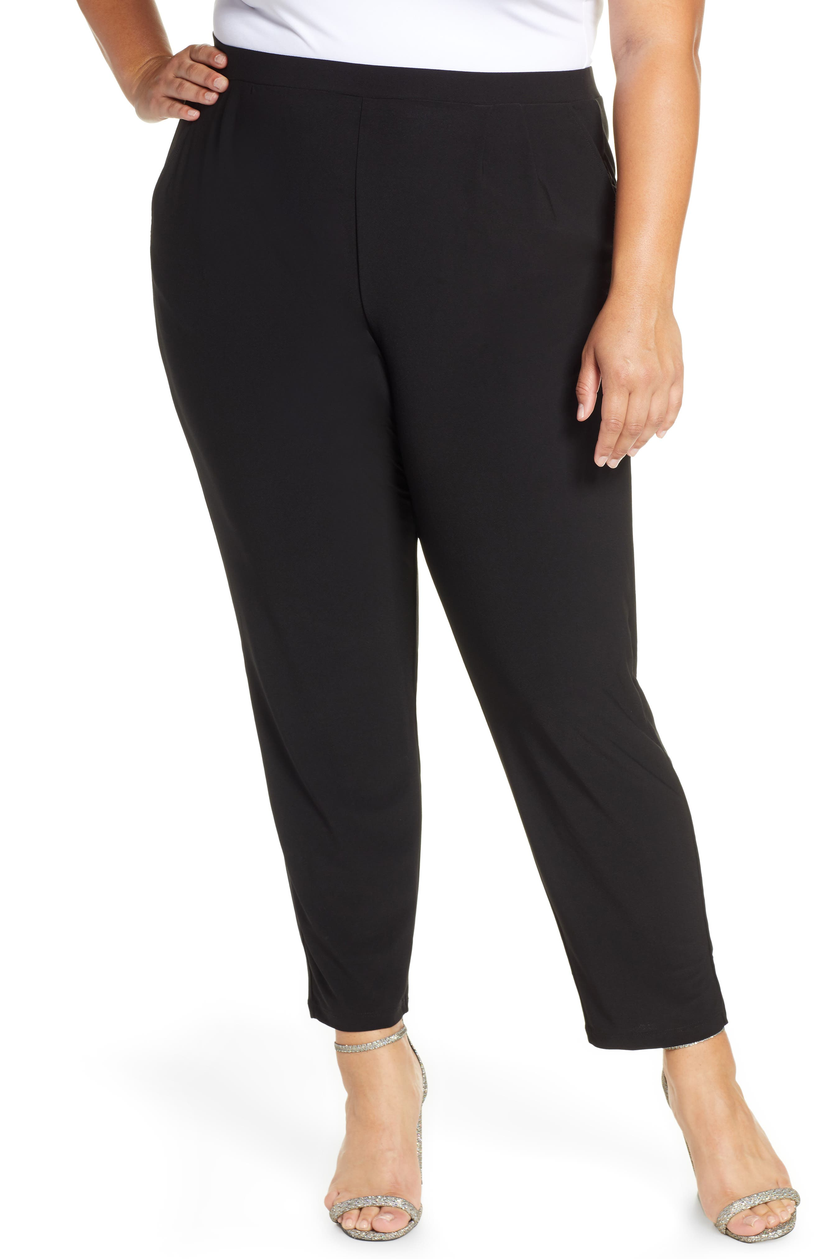 Plus Women's Leith High Rise Pleated Pants