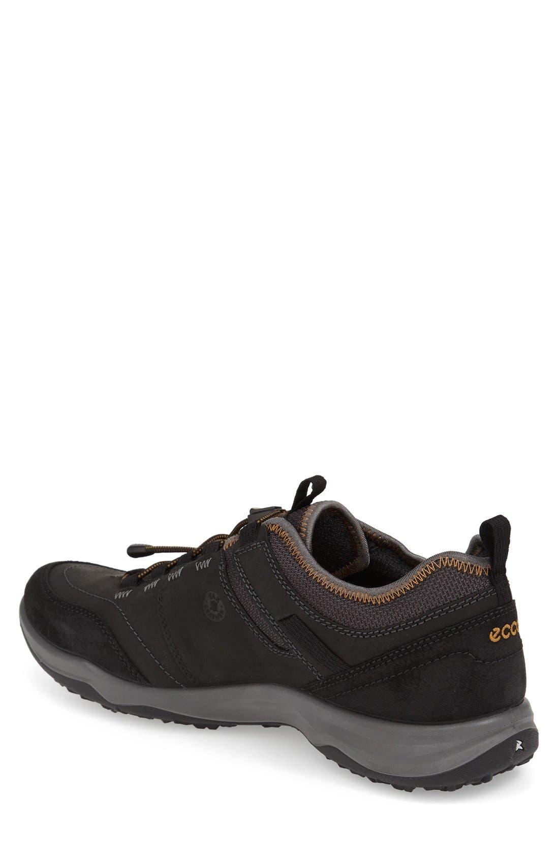'Espinho GTX' Sneaker,                             Alternate thumbnail 2, color,                             BLACK LEATHER