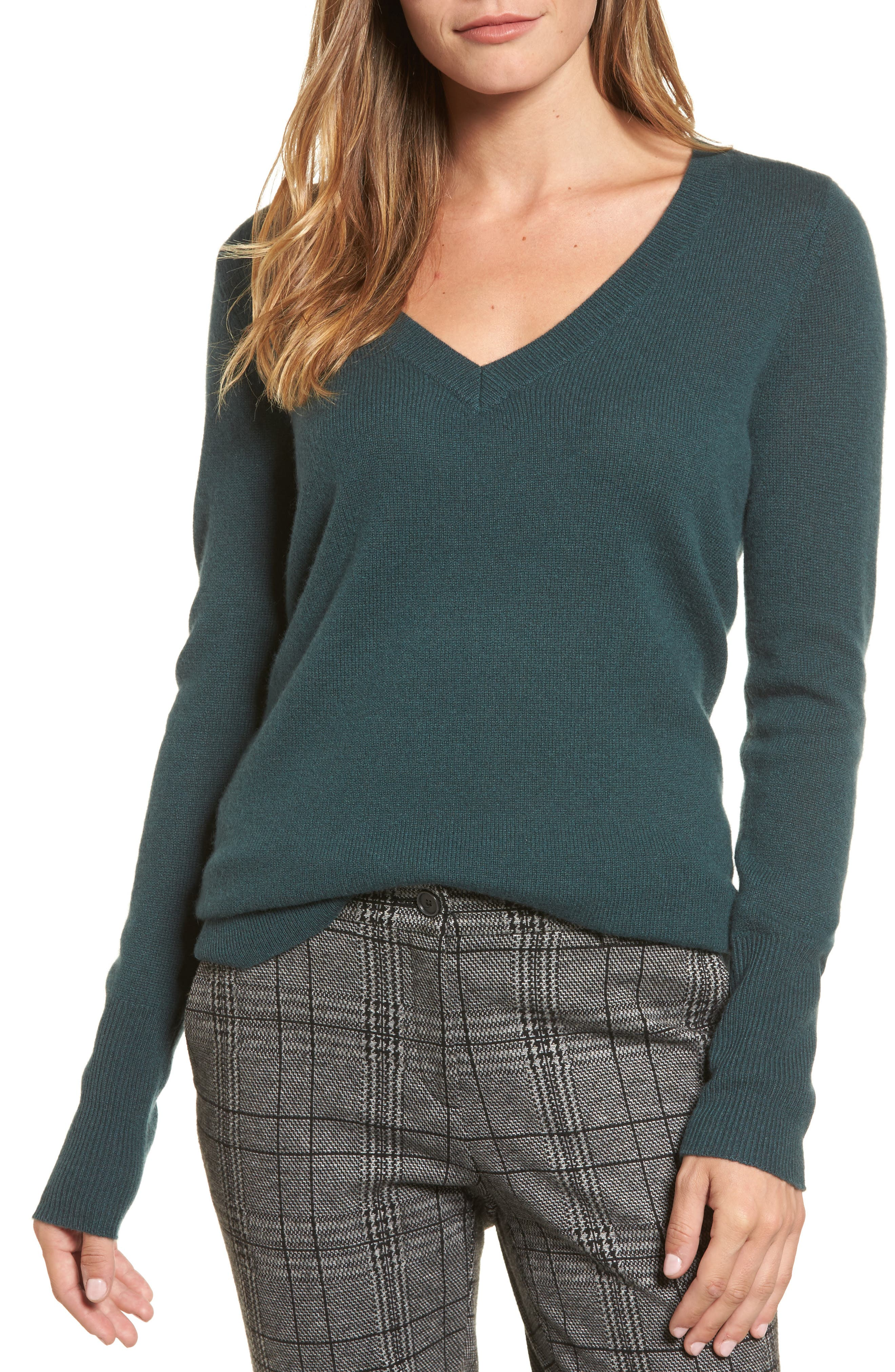 V-Neck Cashmere Sweater,                             Main thumbnail 6, color,