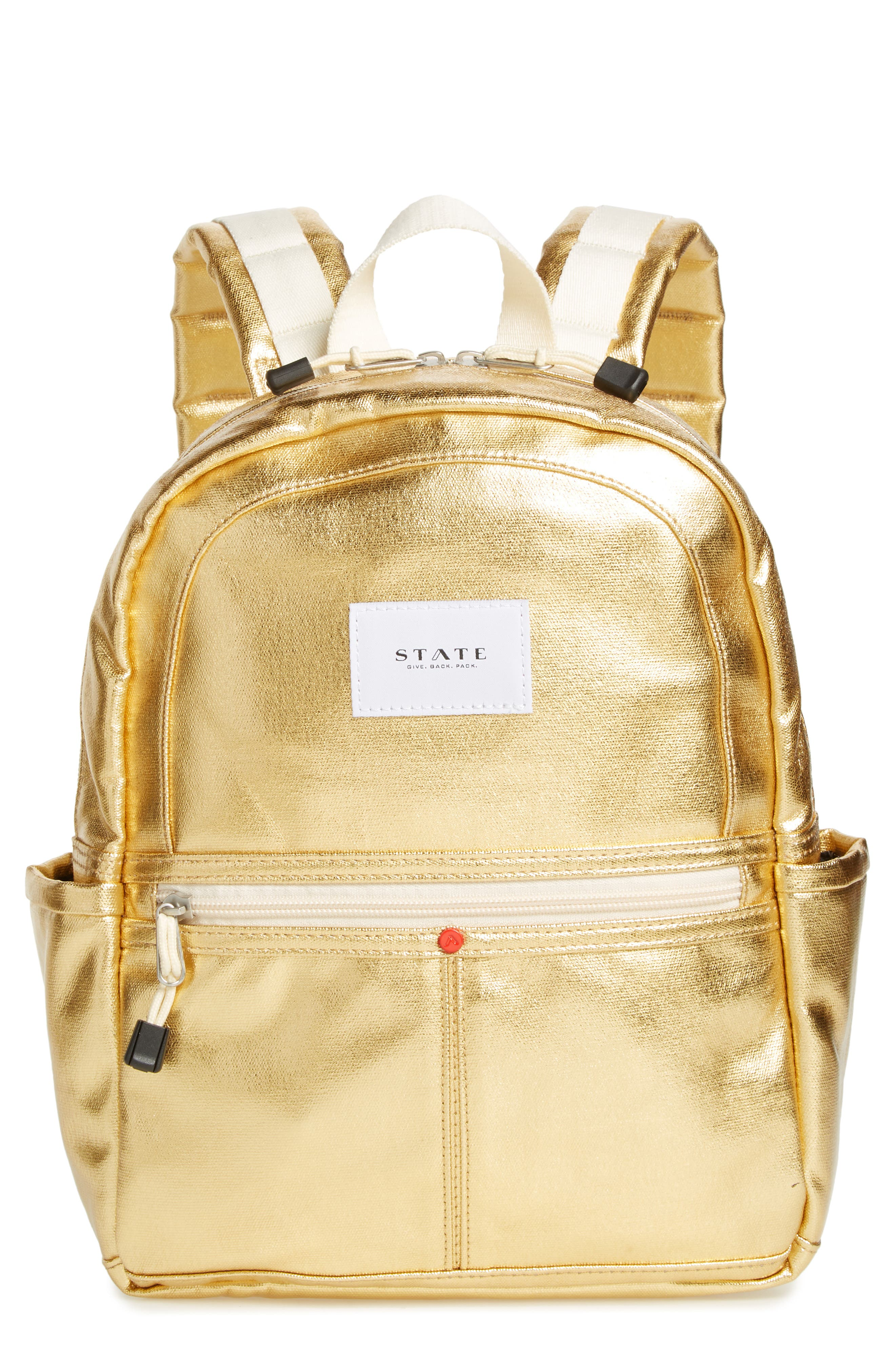 Downtown Mini Kane Metallic Backpack,                         Main,                         color, GOLD