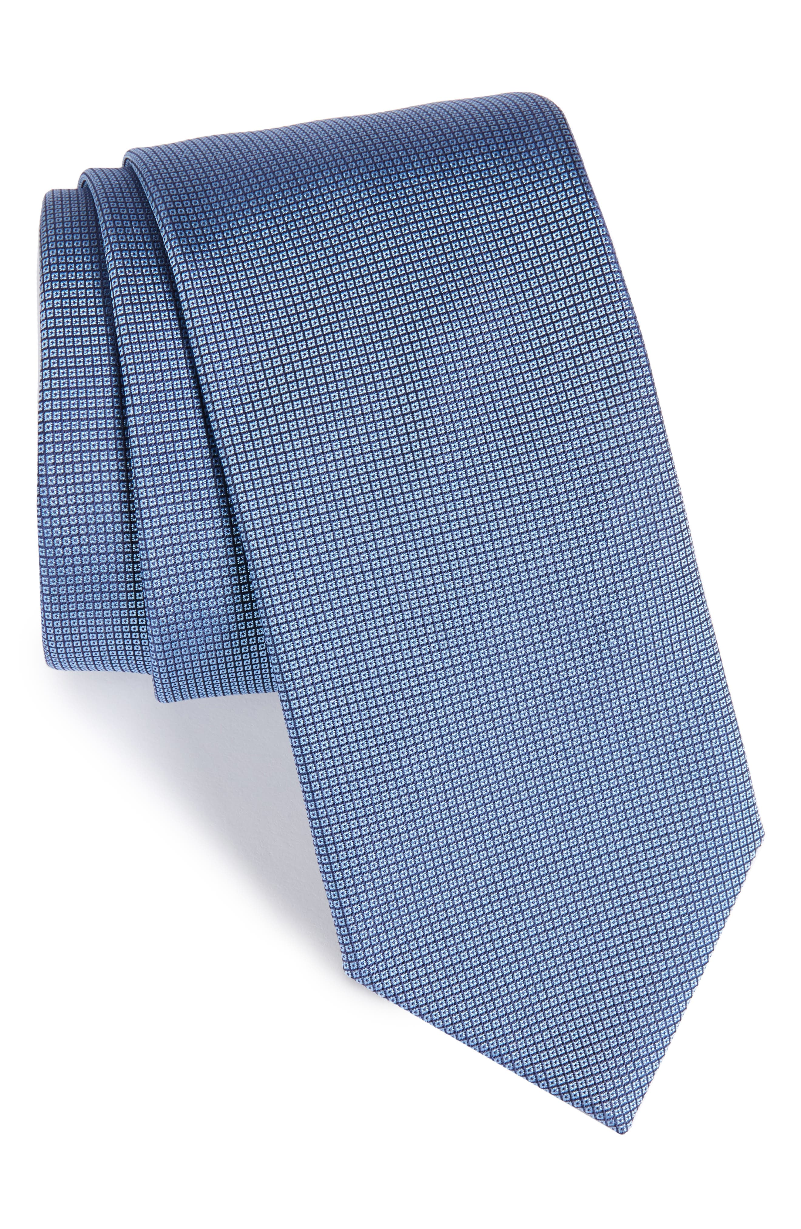 Solid Silk Tie,                         Main,                         color, 422