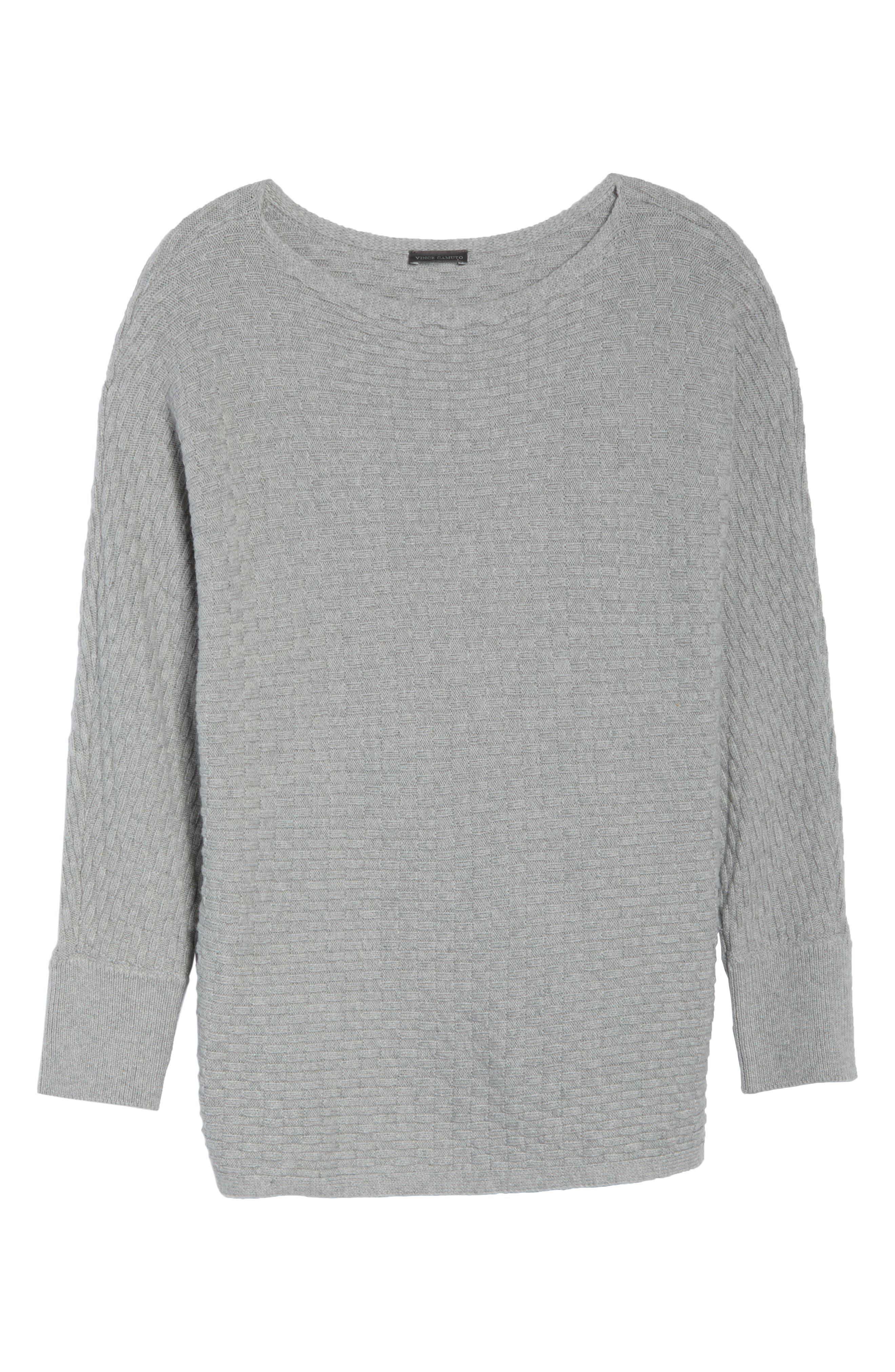 Boatneck Sweater,                             Alternate thumbnail 6, color,                             LIGHT HEATHER GREY