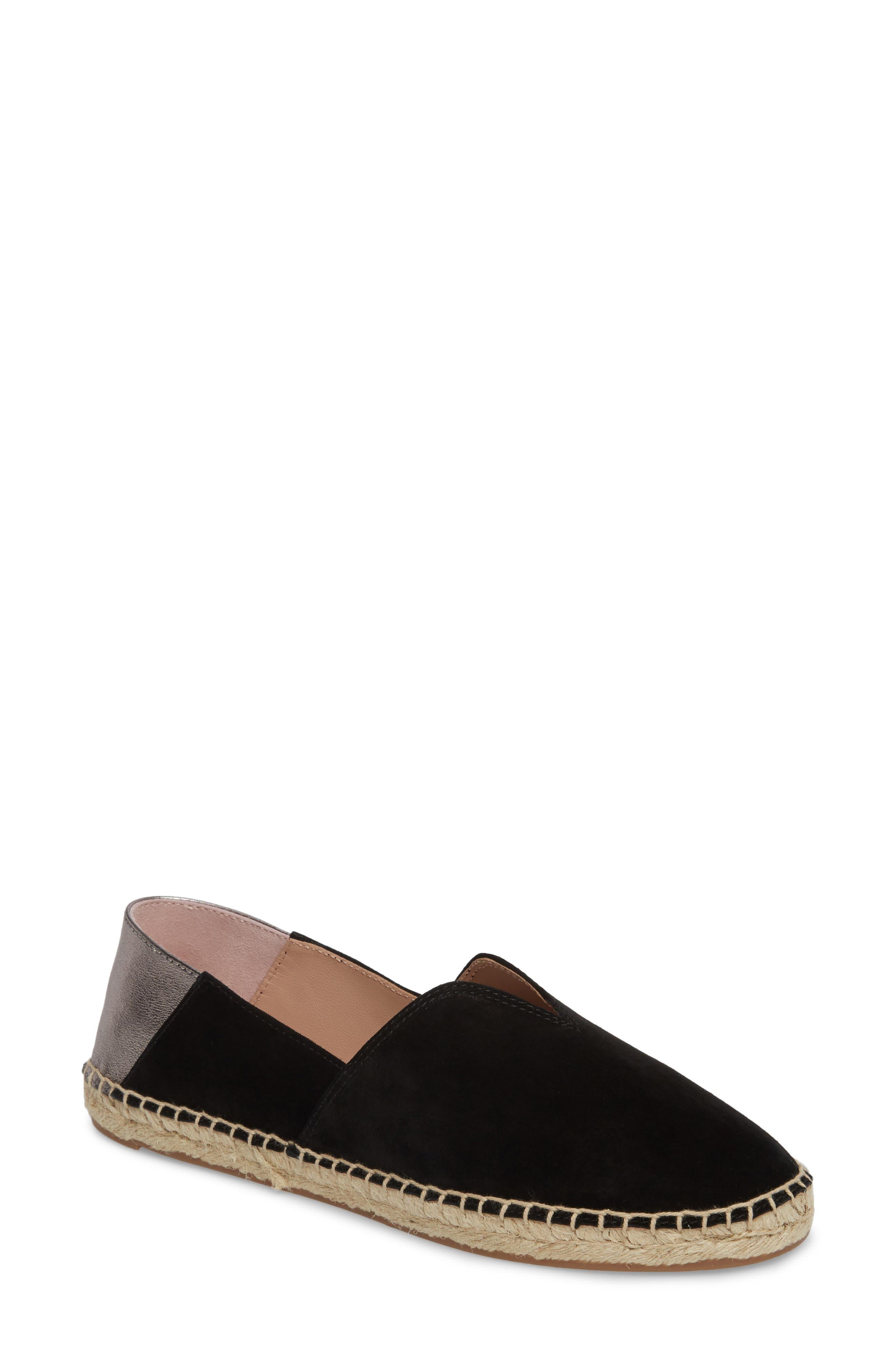 Ilene Slip-On Flat,                         Main,                         color, BLACK SUEDE