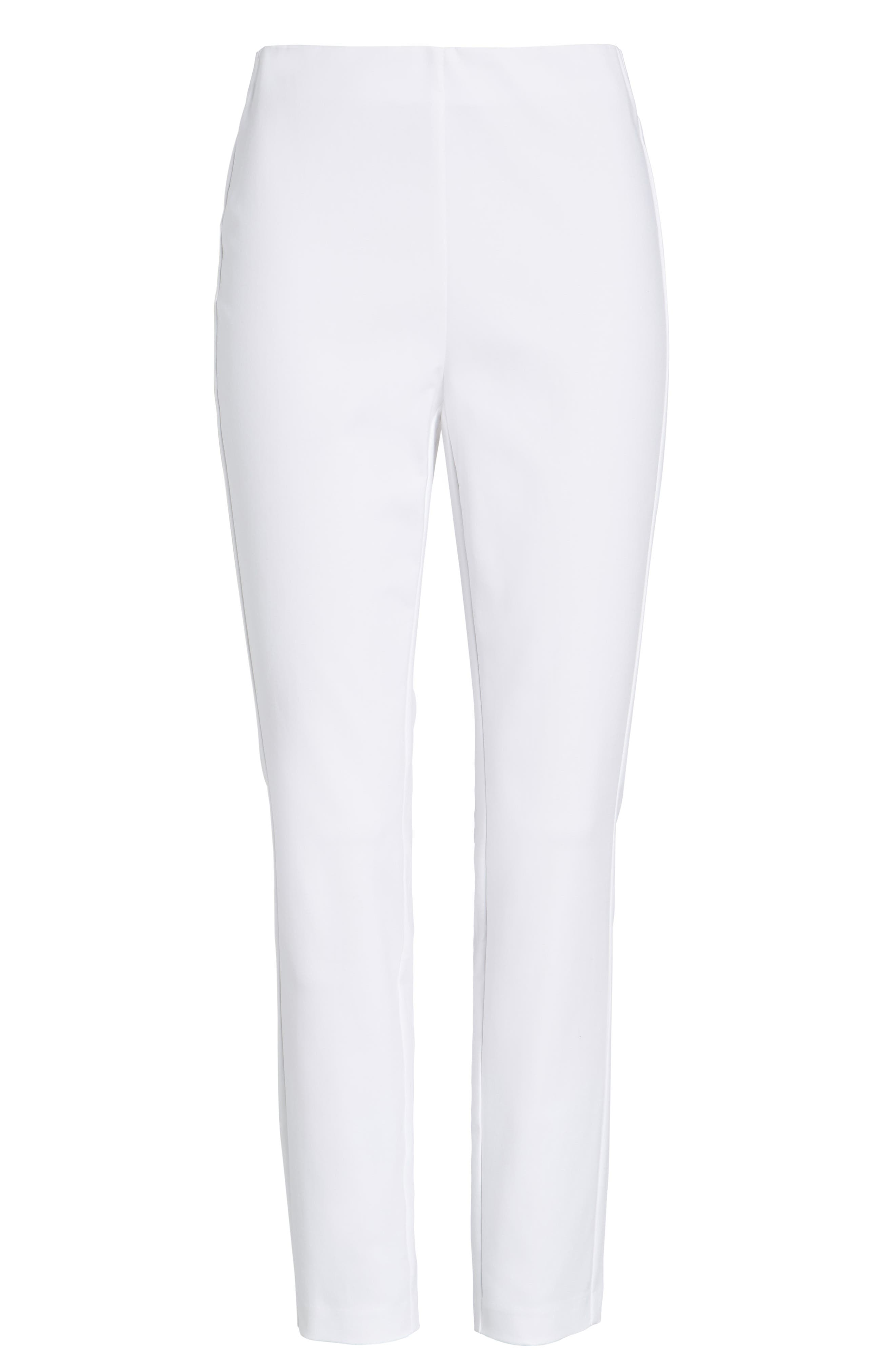 'Simone' Slim Ankle Pants,                             Alternate thumbnail 7, color,                             WHITE