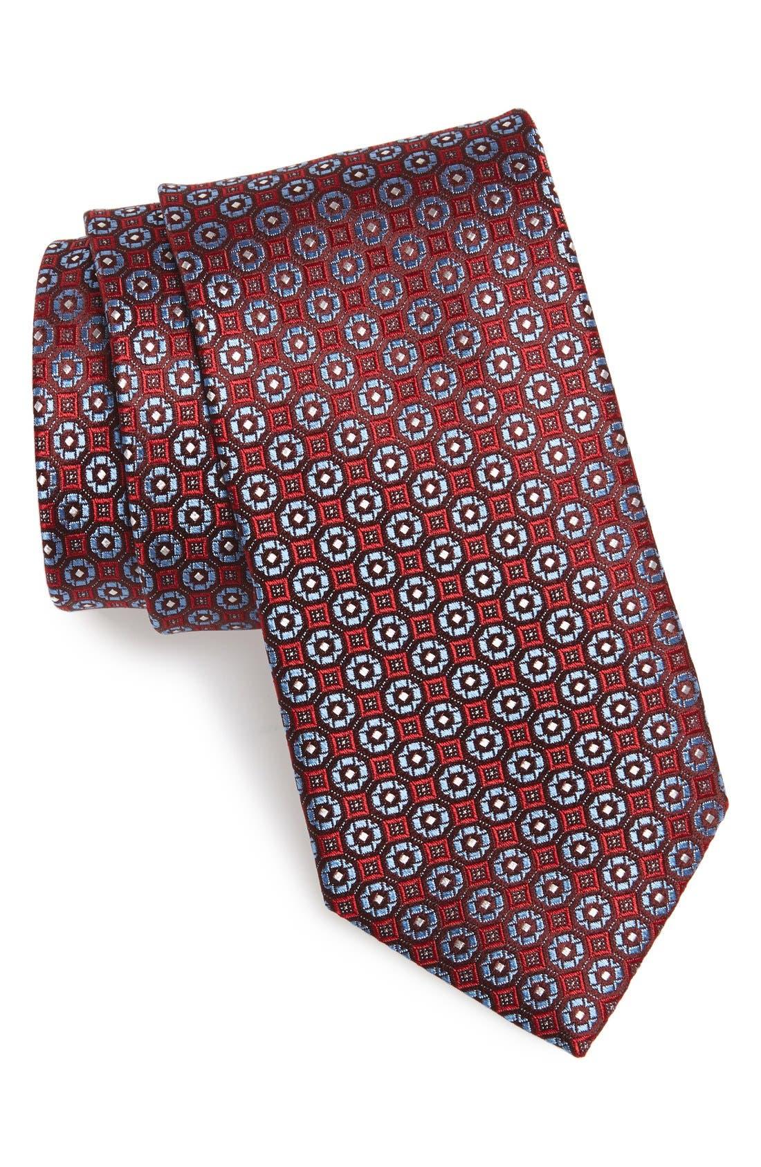 'Lange' Medallion Silk Tie,                             Main thumbnail 2, color,