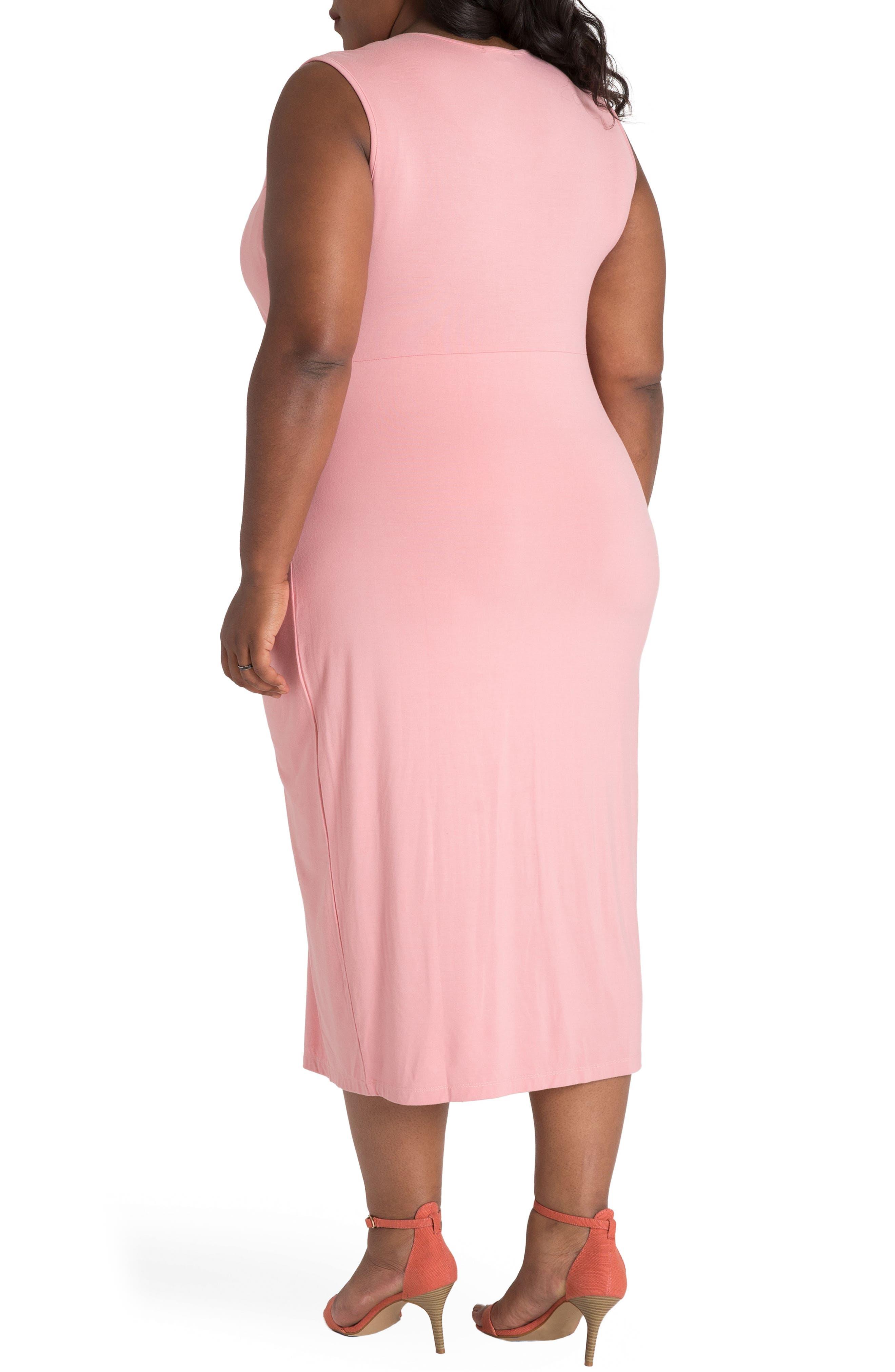 Brianna Jersey Sheath Midi Dress,                             Alternate thumbnail 2, color,                             LIGHT PINK