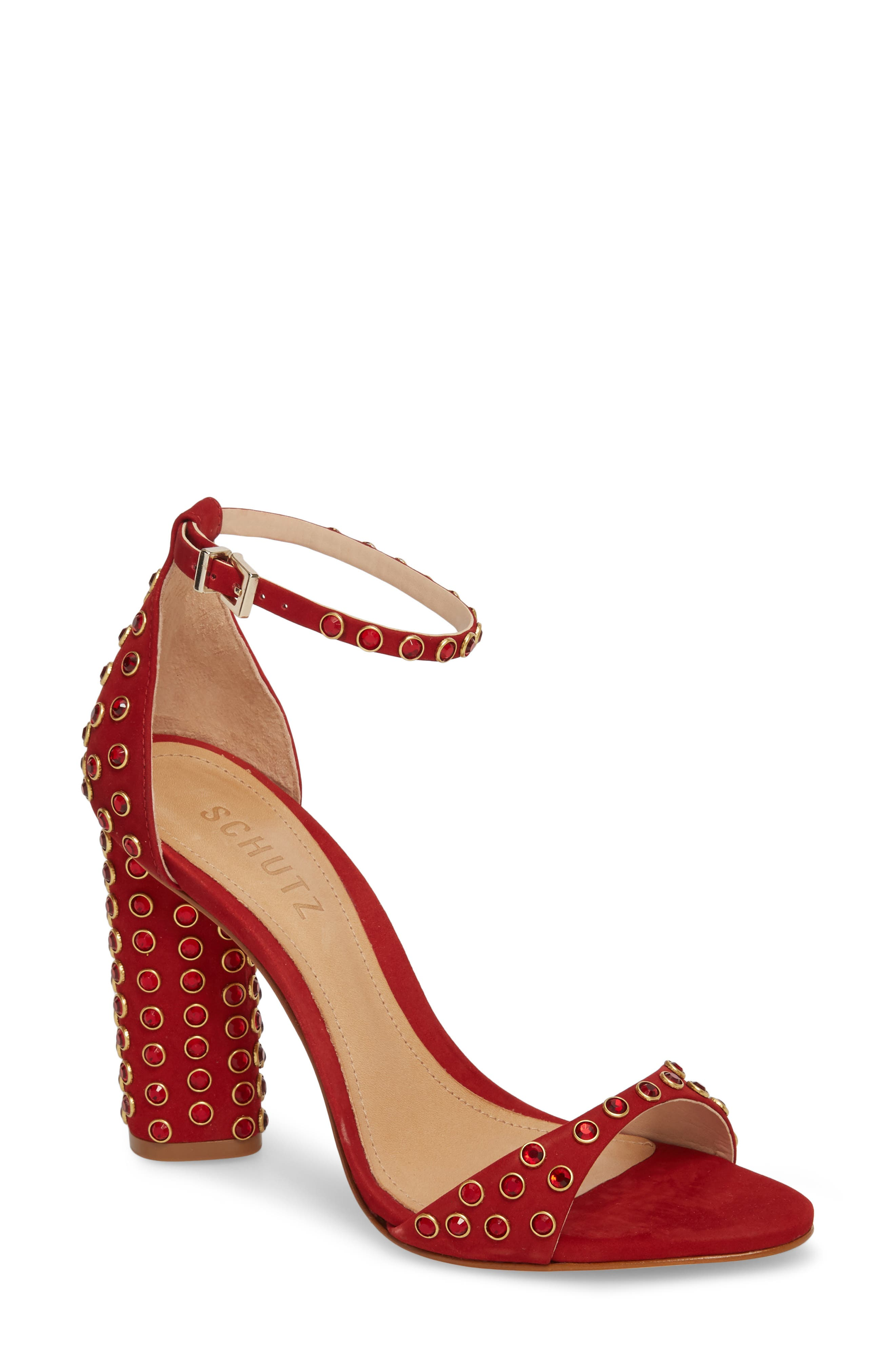 Schutz Marcelle Ankle Strap Sandal- Green