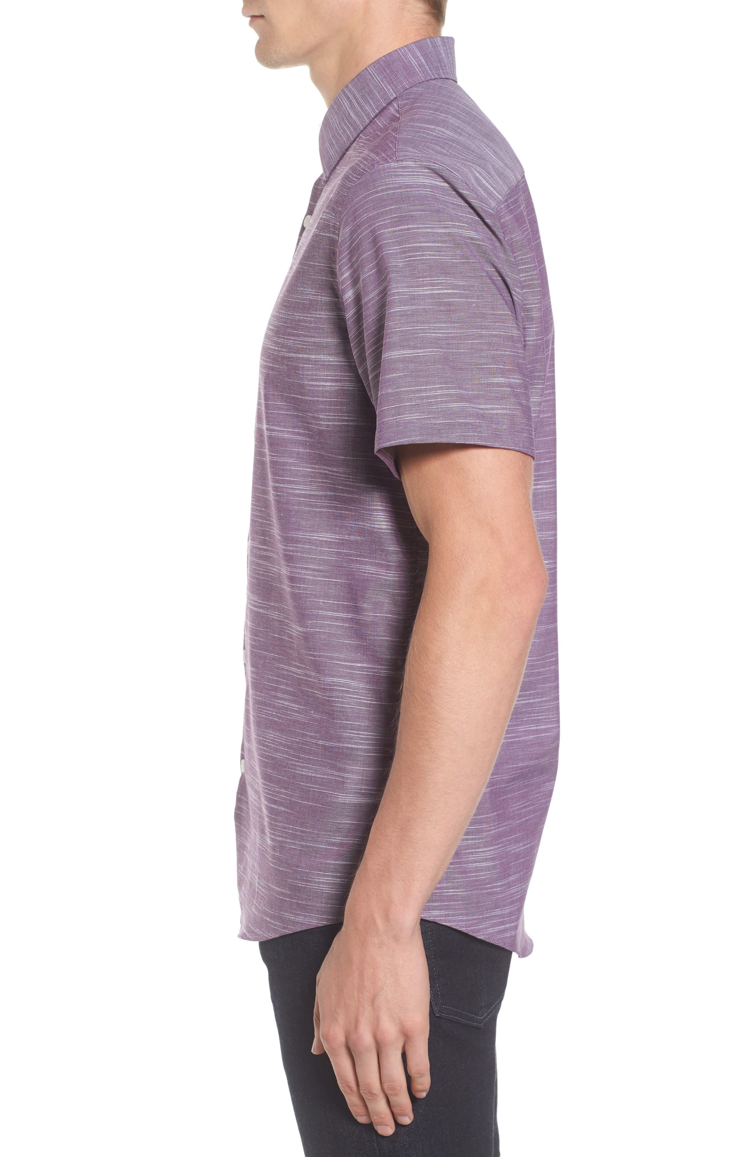 Calilbrate Slim Fit Slub Woven Shirt,                             Alternate thumbnail 9, color,