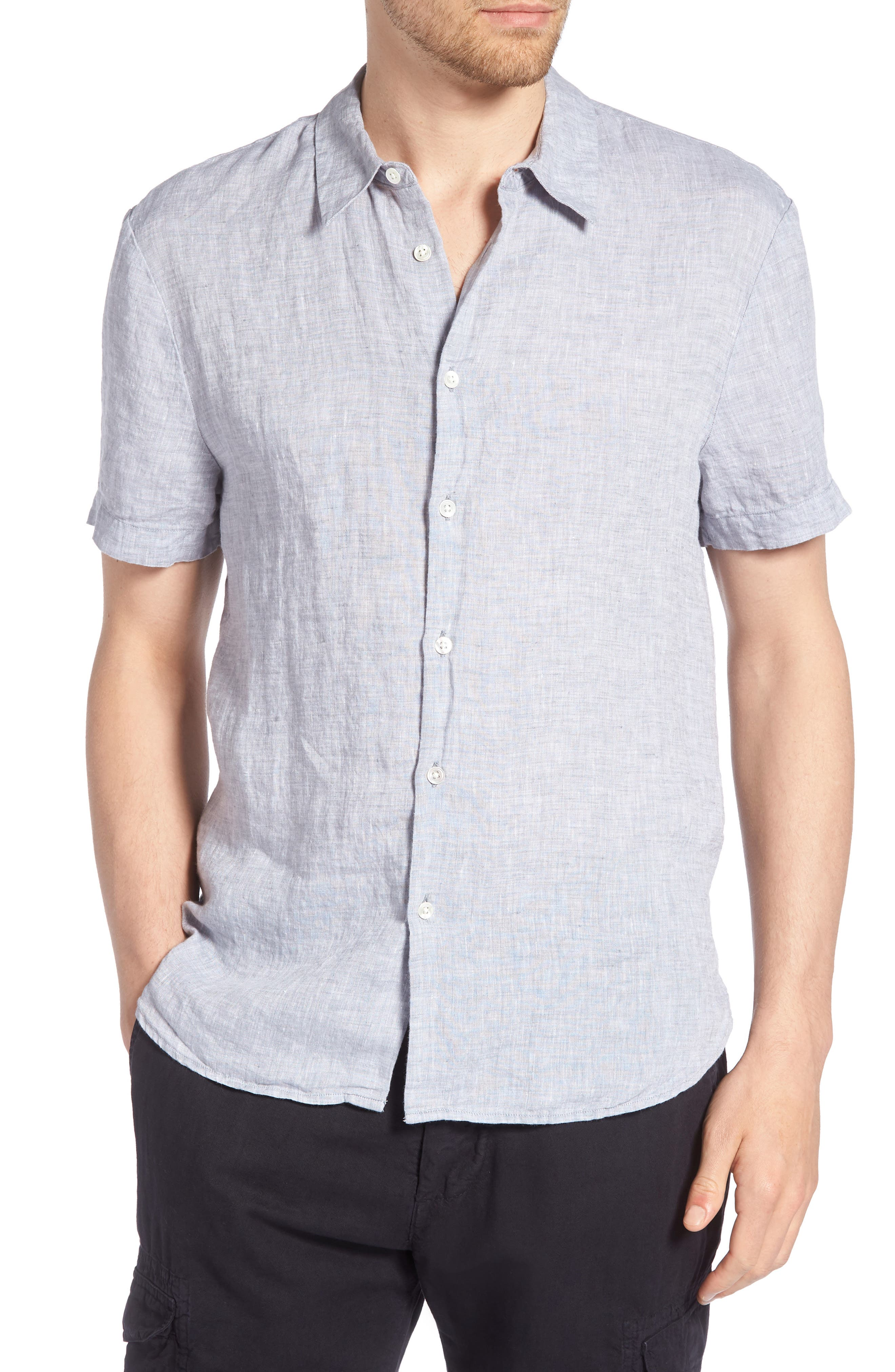 Slim Fit Linen Sport Shirt,                             Main thumbnail 1, color,