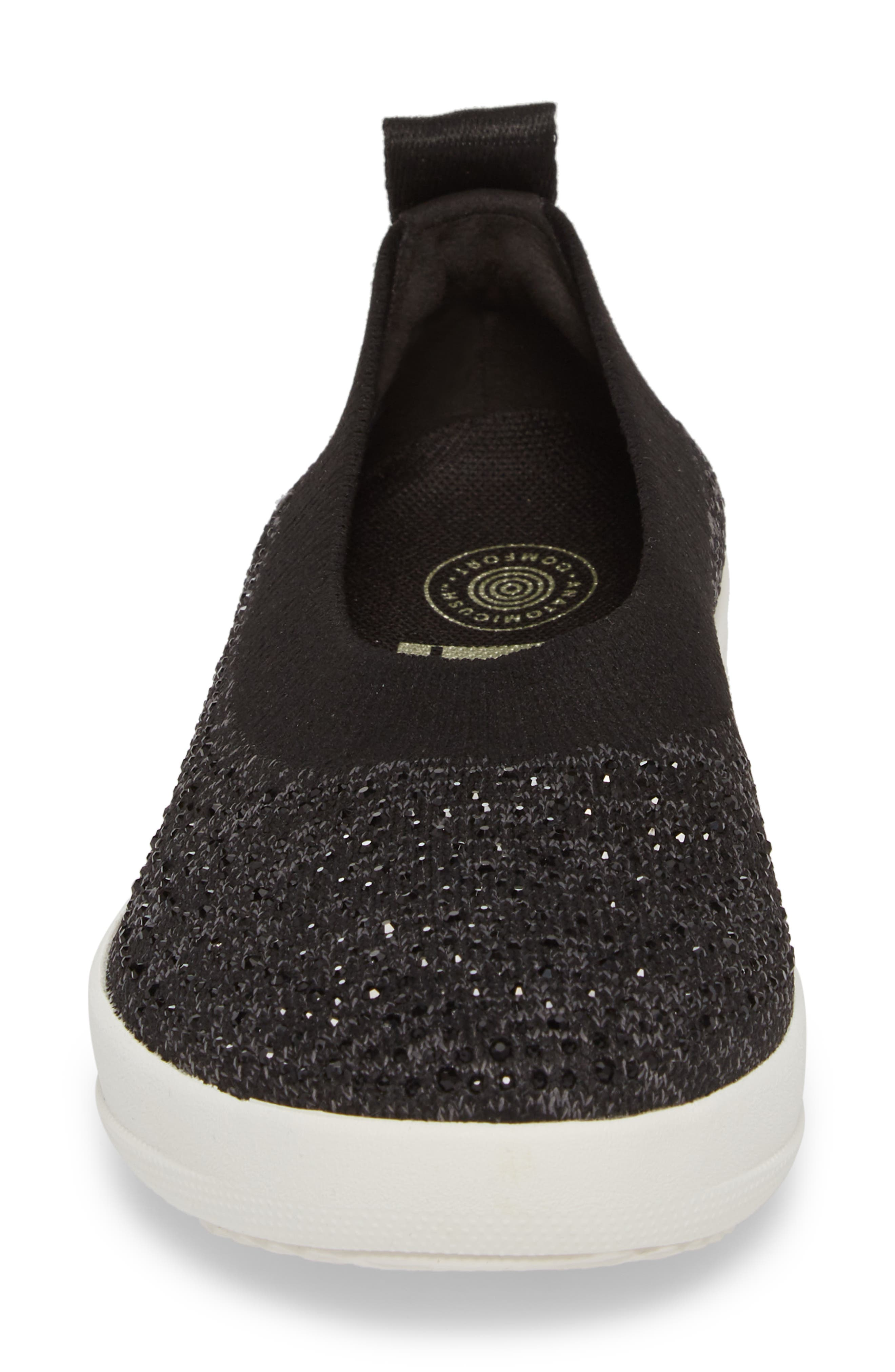 Uberknit Slip-On Sneaker,                             Alternate thumbnail 4, color,                             BLACK/ SOFT GREY