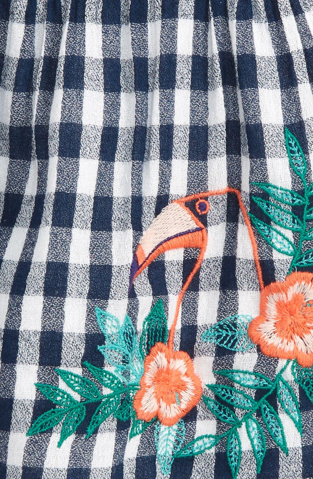 Smocked Gingham Dress,                             Alternate thumbnail 2, color,                             410
