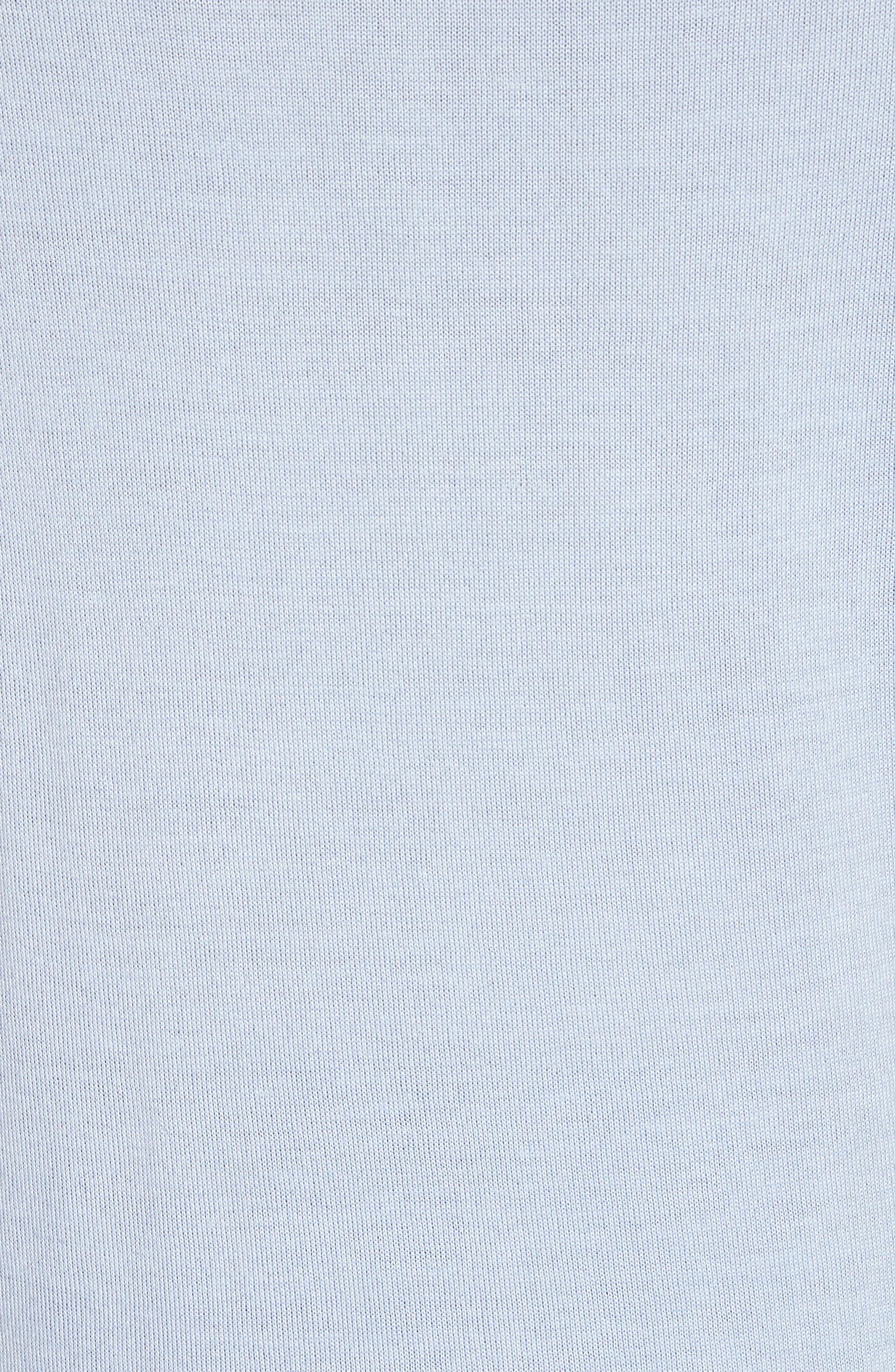 Malad 42 Silk & Cashmere Tee,                             Alternate thumbnail 5, color,                             SKY BLUE