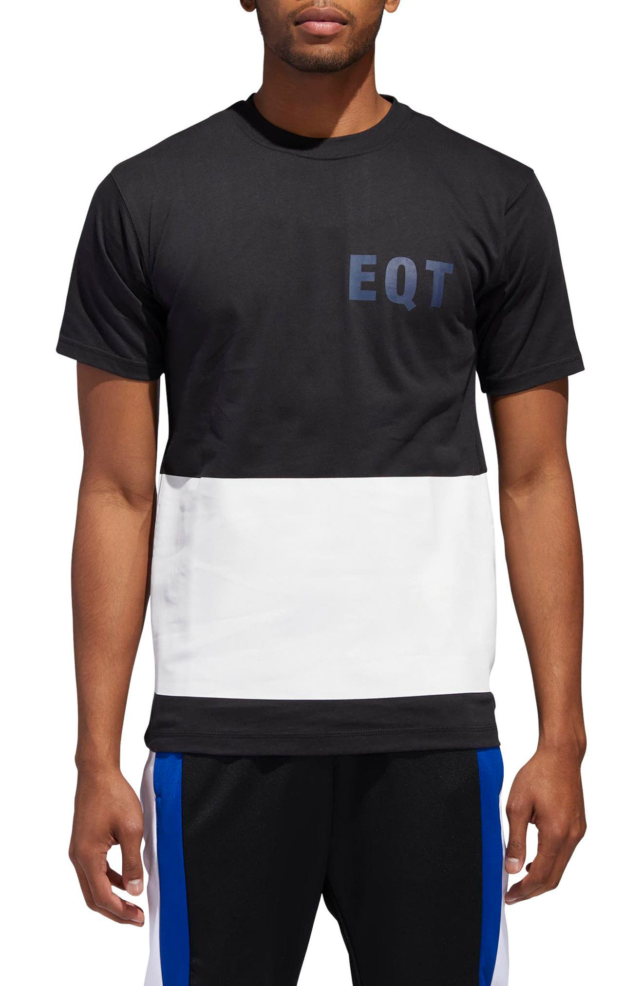 adidas EQT Panel Crewneck T-Shirt,                         Main,                         color, BLACK
