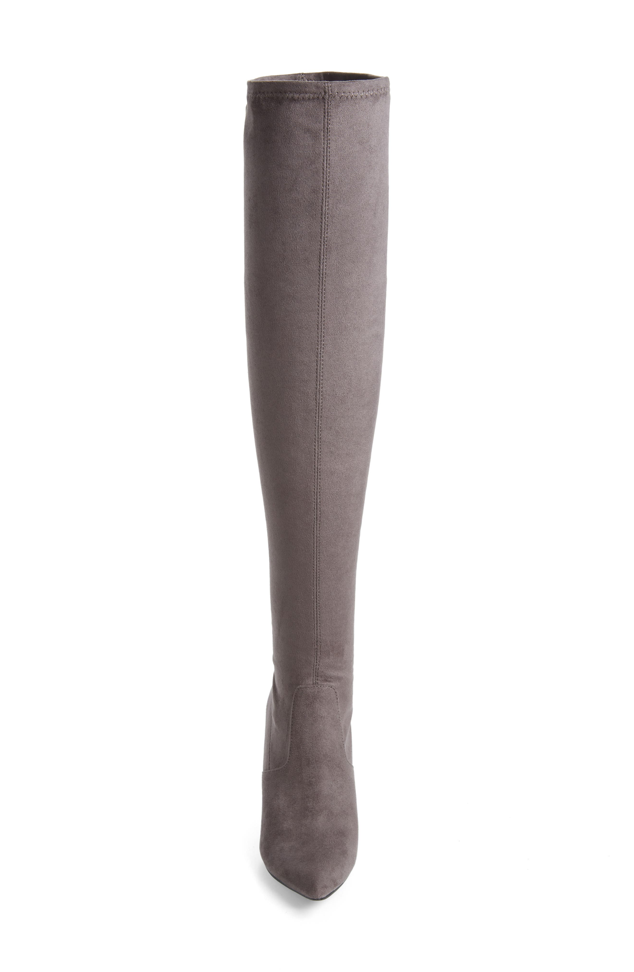 Devine Over the Knee Boot,                             Alternate thumbnail 4, color,                             GREY SUEDE