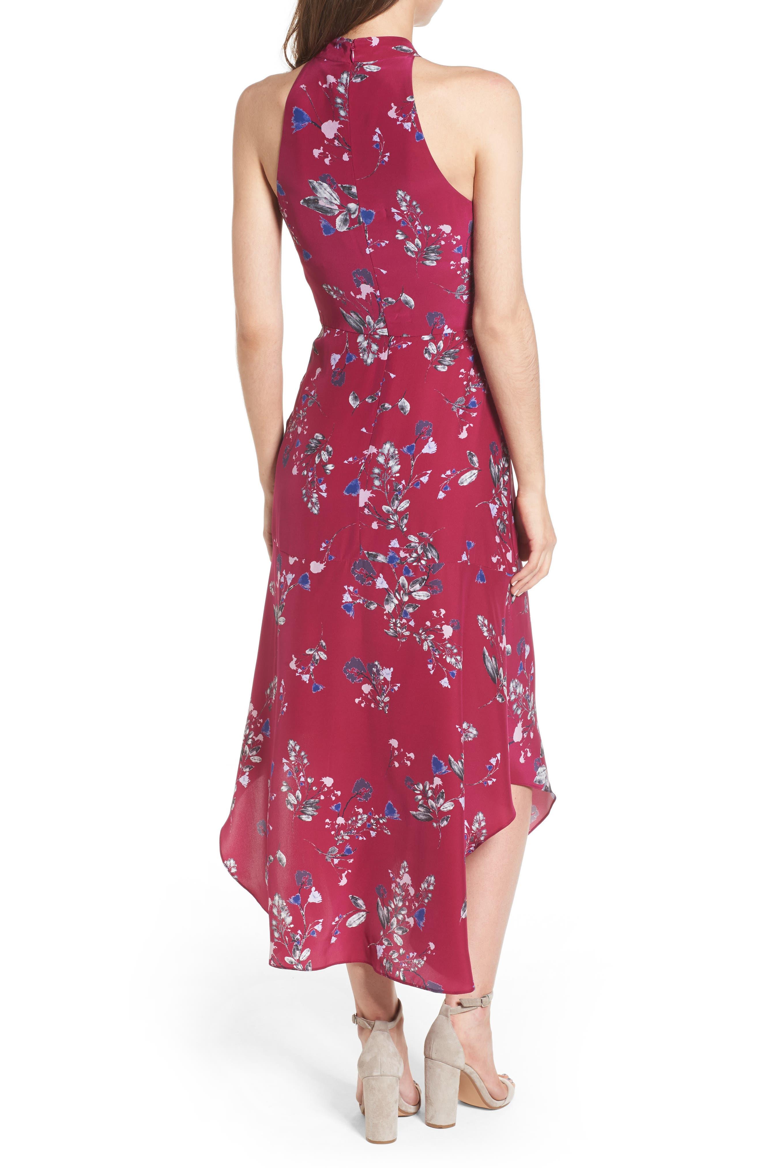 Jagger Silk Midi Dress,                             Alternate thumbnail 2, color,                             697
