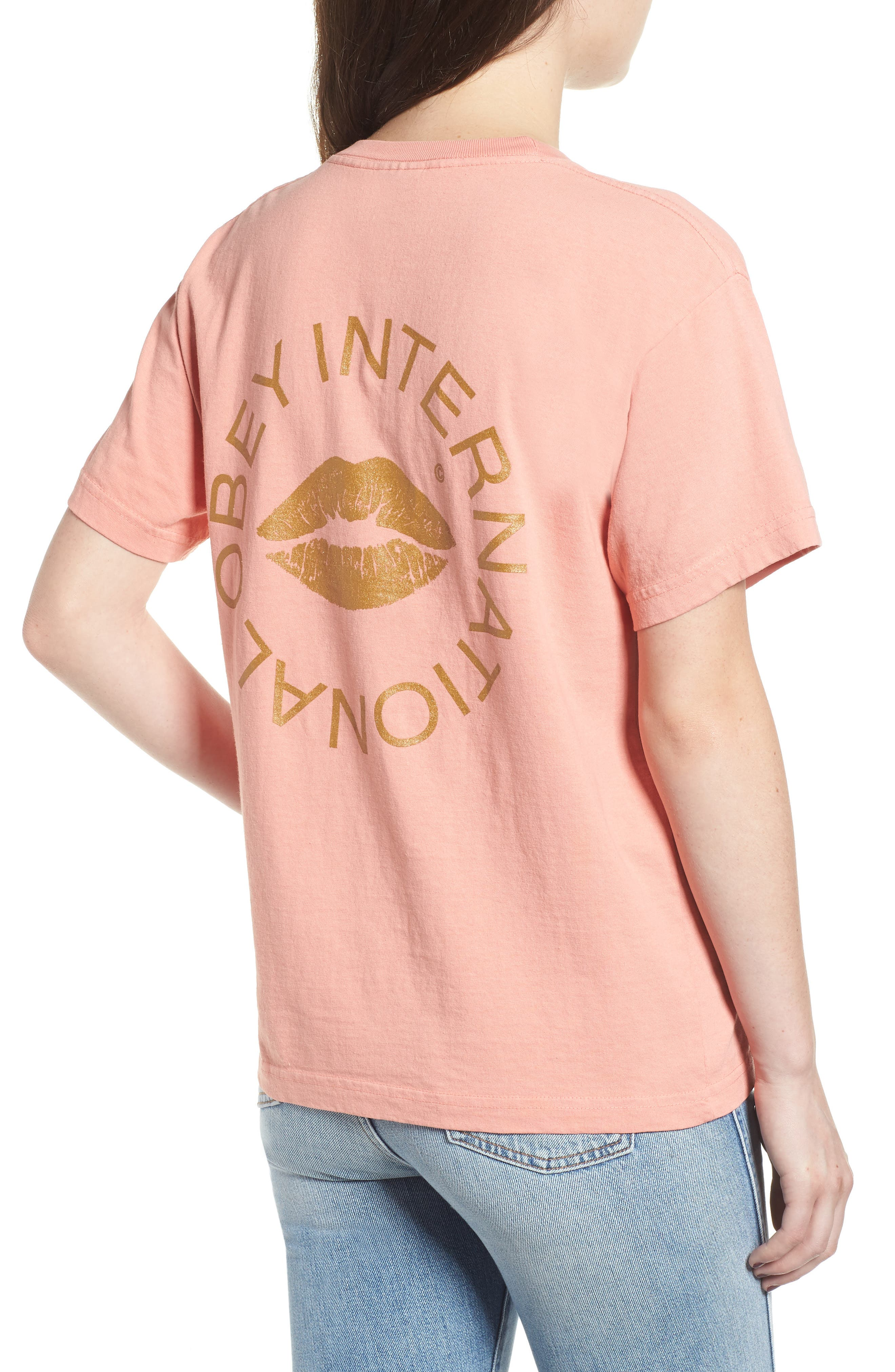 OBEY,                             Kiss of Obey Boxy Tee,                             Alternate thumbnail 2, color,                             950