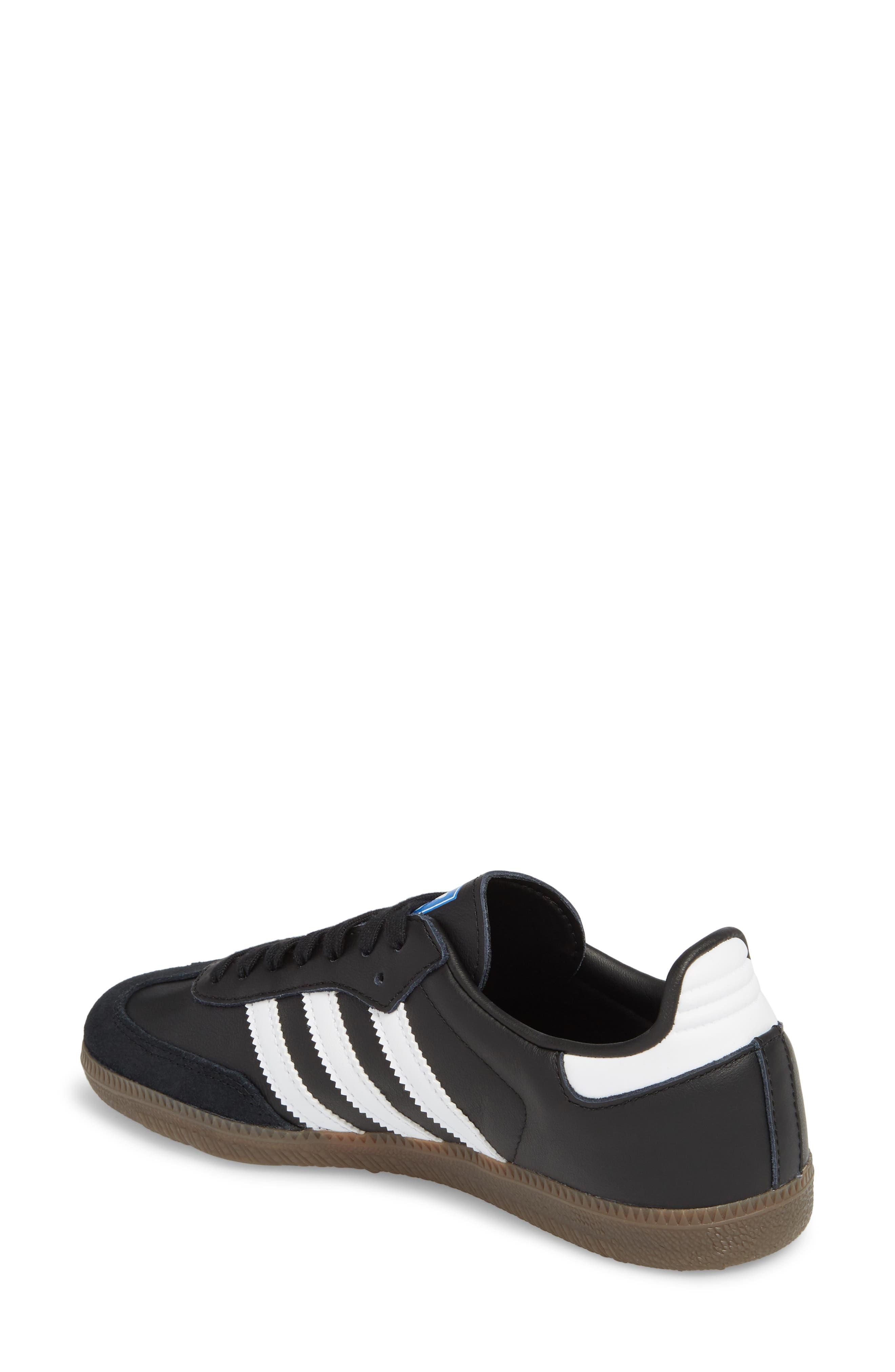 'Samba' Sneaker,                             Alternate thumbnail 2, color,                             BLACK/ WHITE/ GUM5