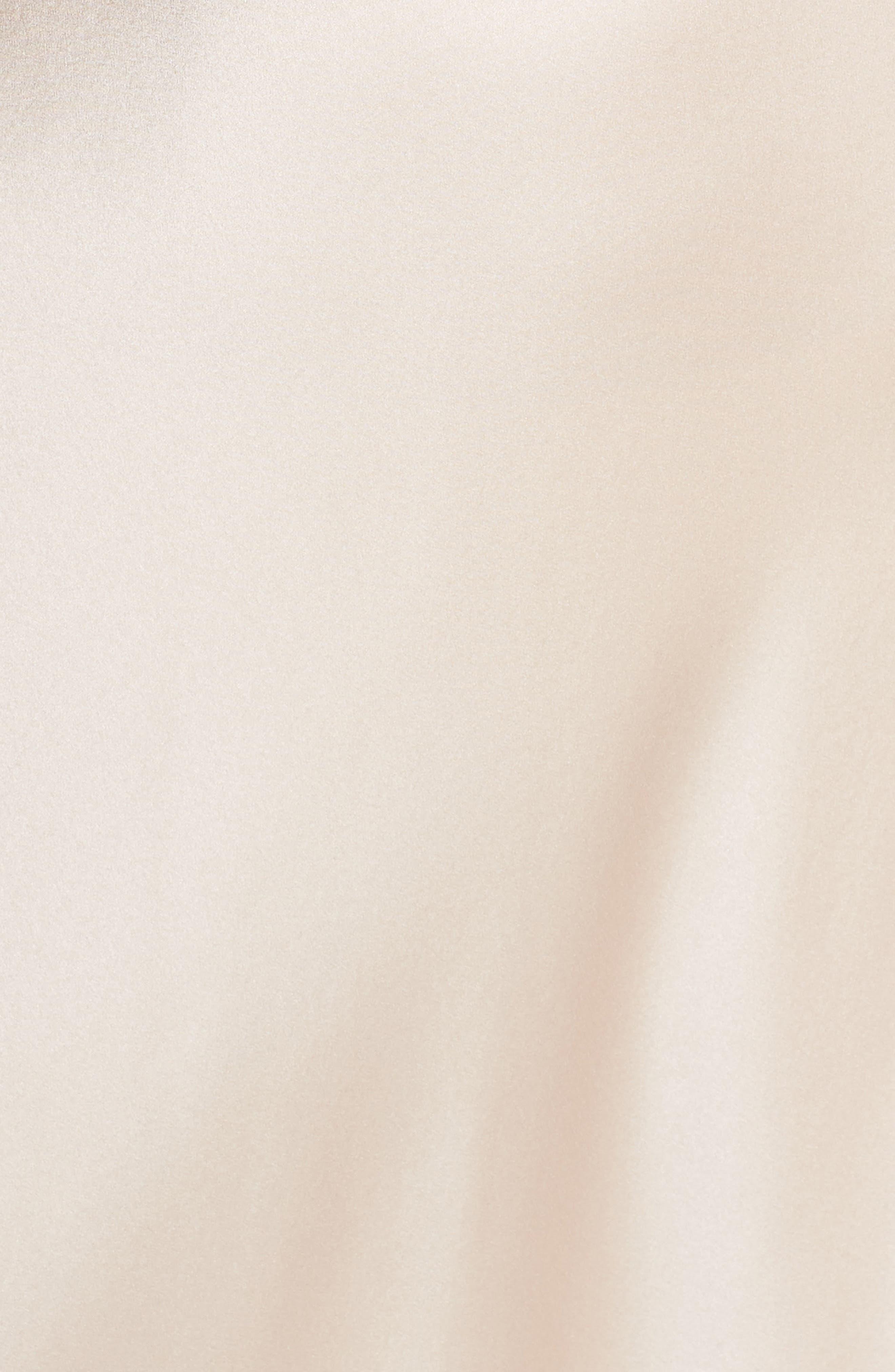 Lace Trim Silk Nightgown,                             Alternate thumbnail 5, color,                             650