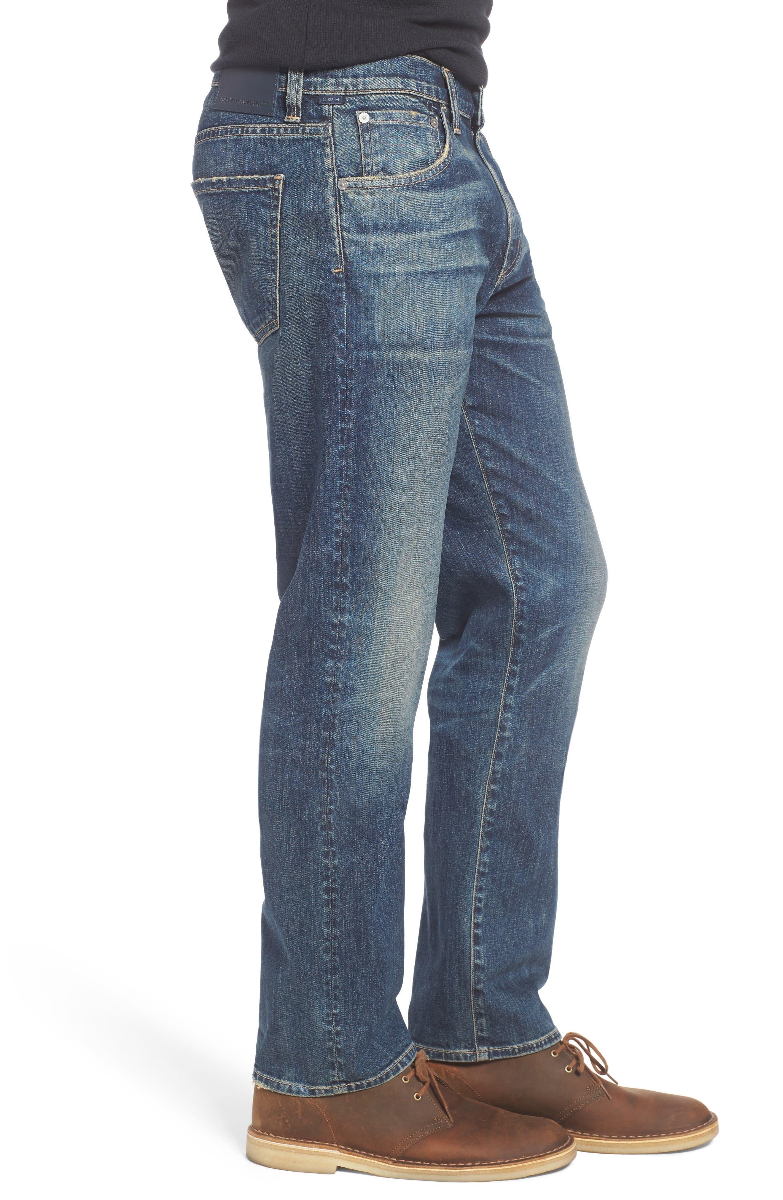 Gage Slim Straight Leg Jeans,                             Alternate thumbnail 3, color,                             DUNES