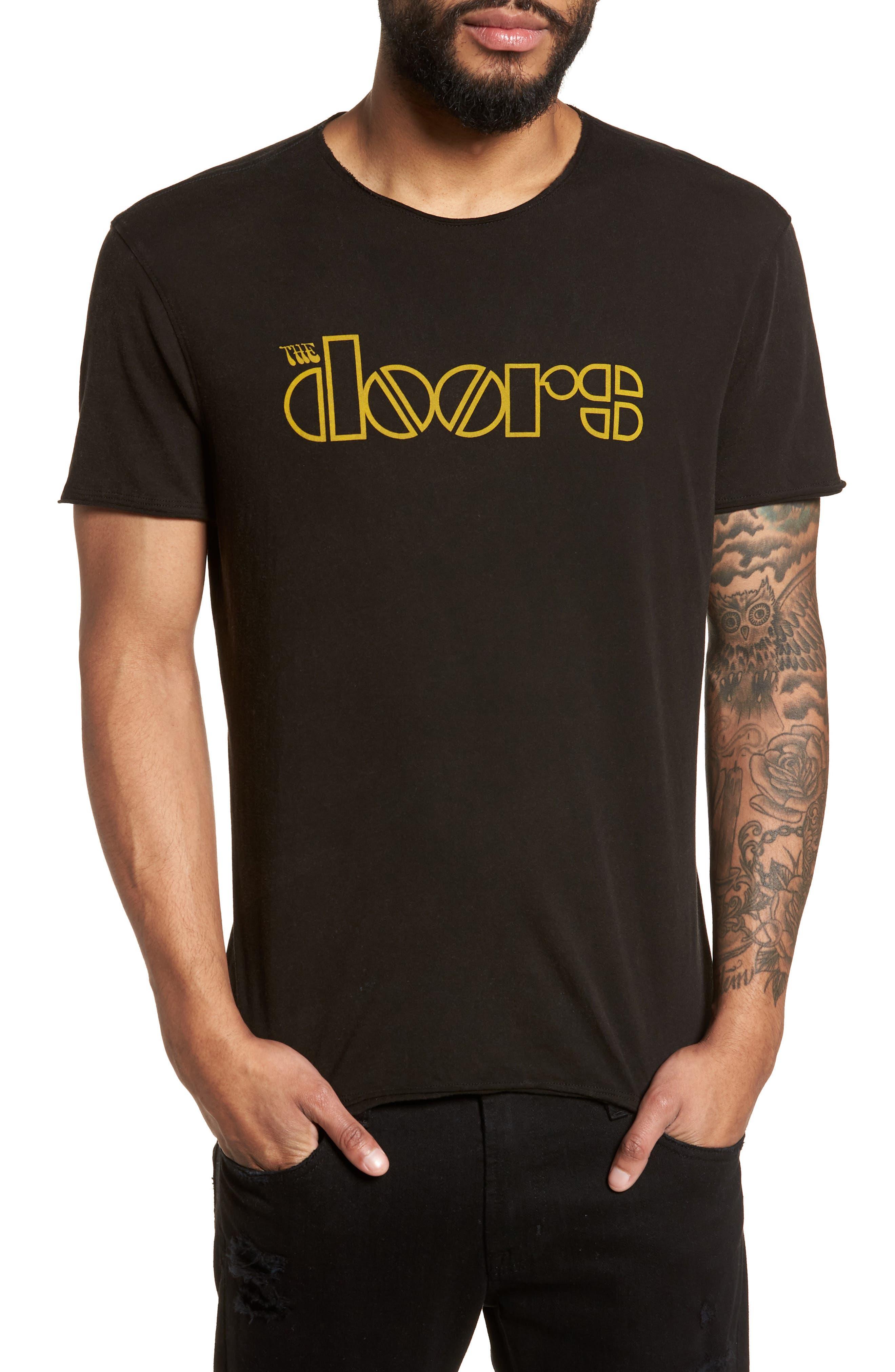 Doors Crewneck T-Shirt,                         Main,                         color, BLACK