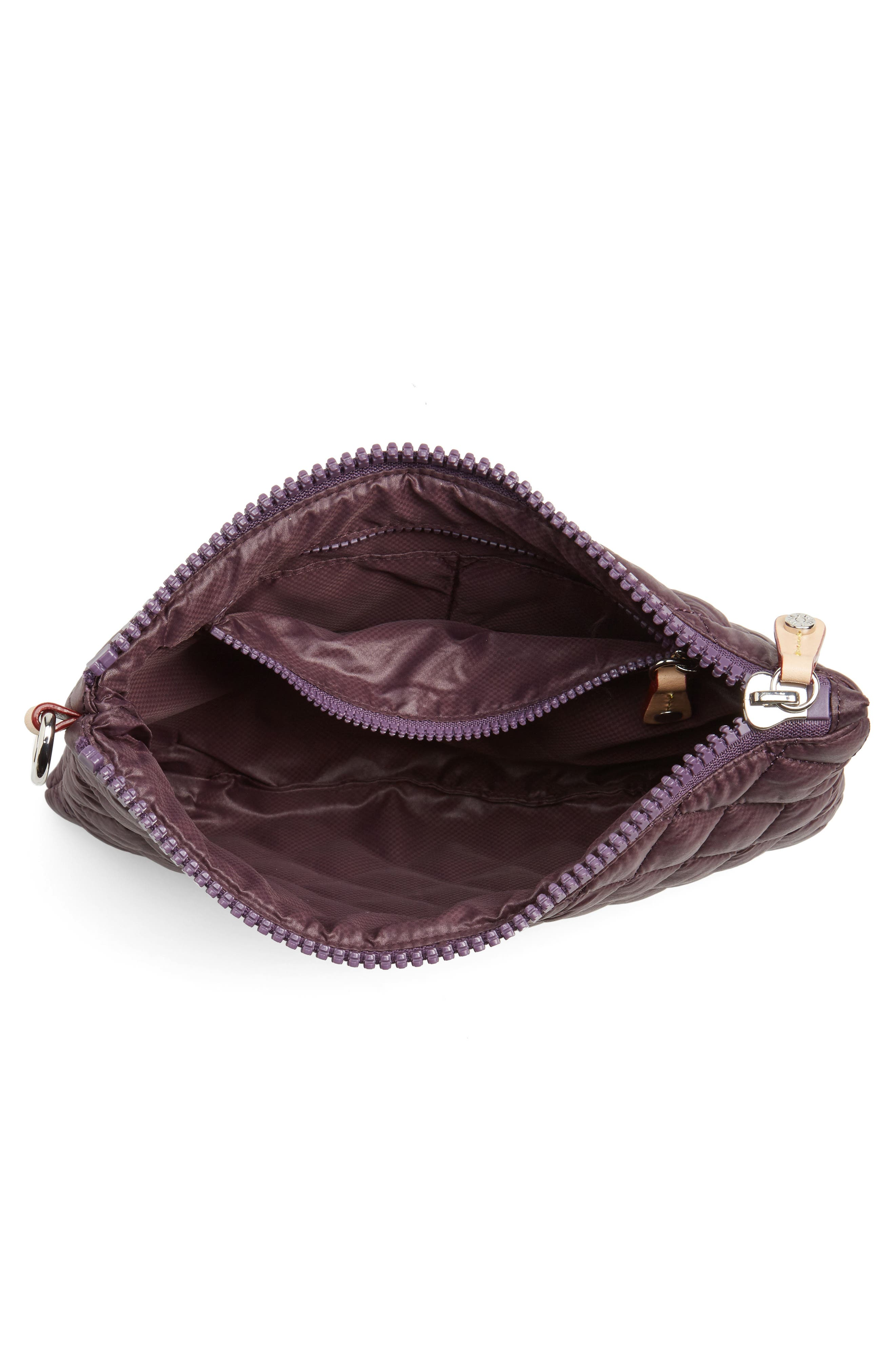 Small Metro Quilted Oxford Nylon Zip Pouch,                             Alternate thumbnail 16, color,