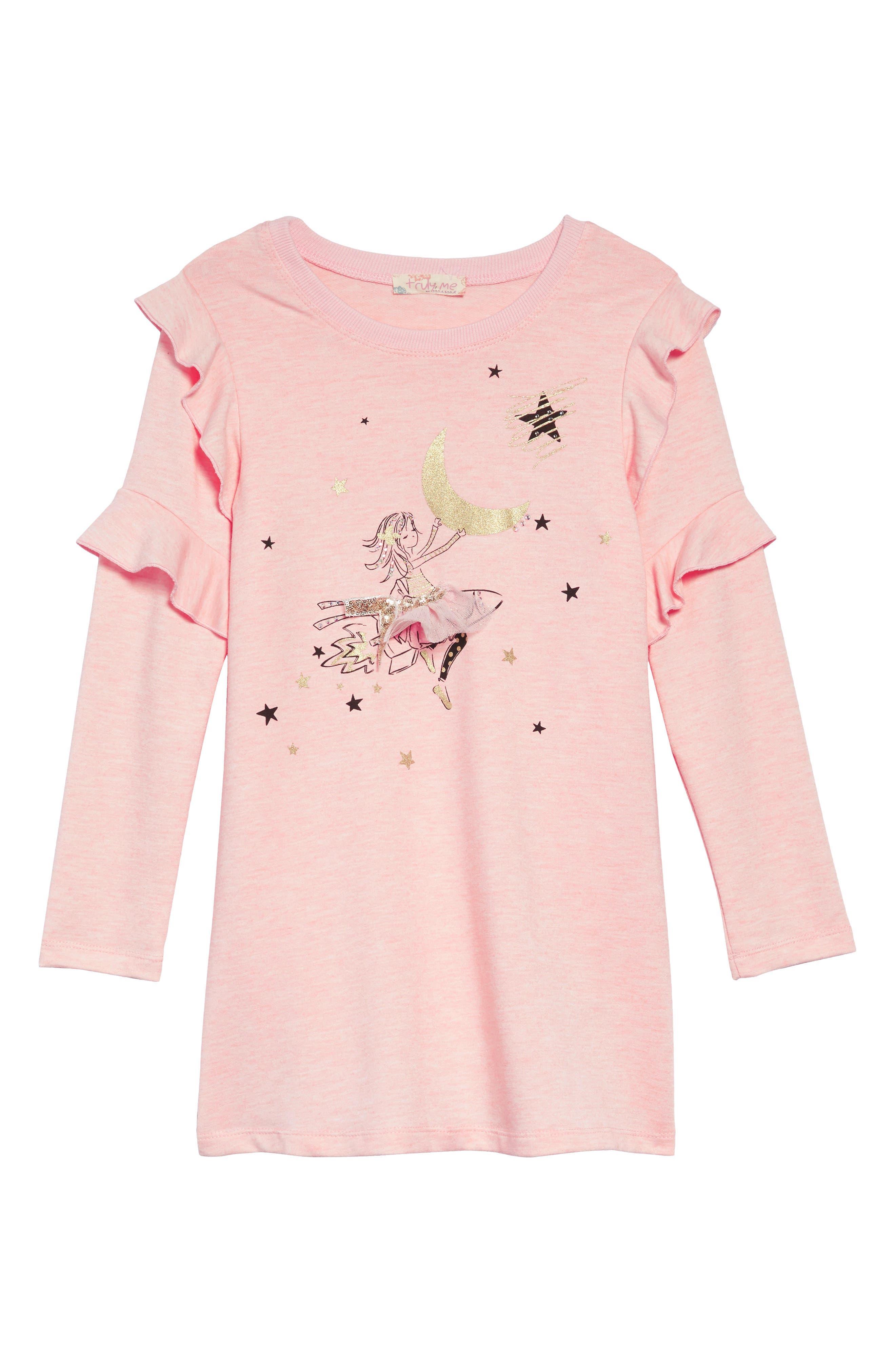 Rocket Girl A-Line Dress,                             Main thumbnail 1, color,                             PINK