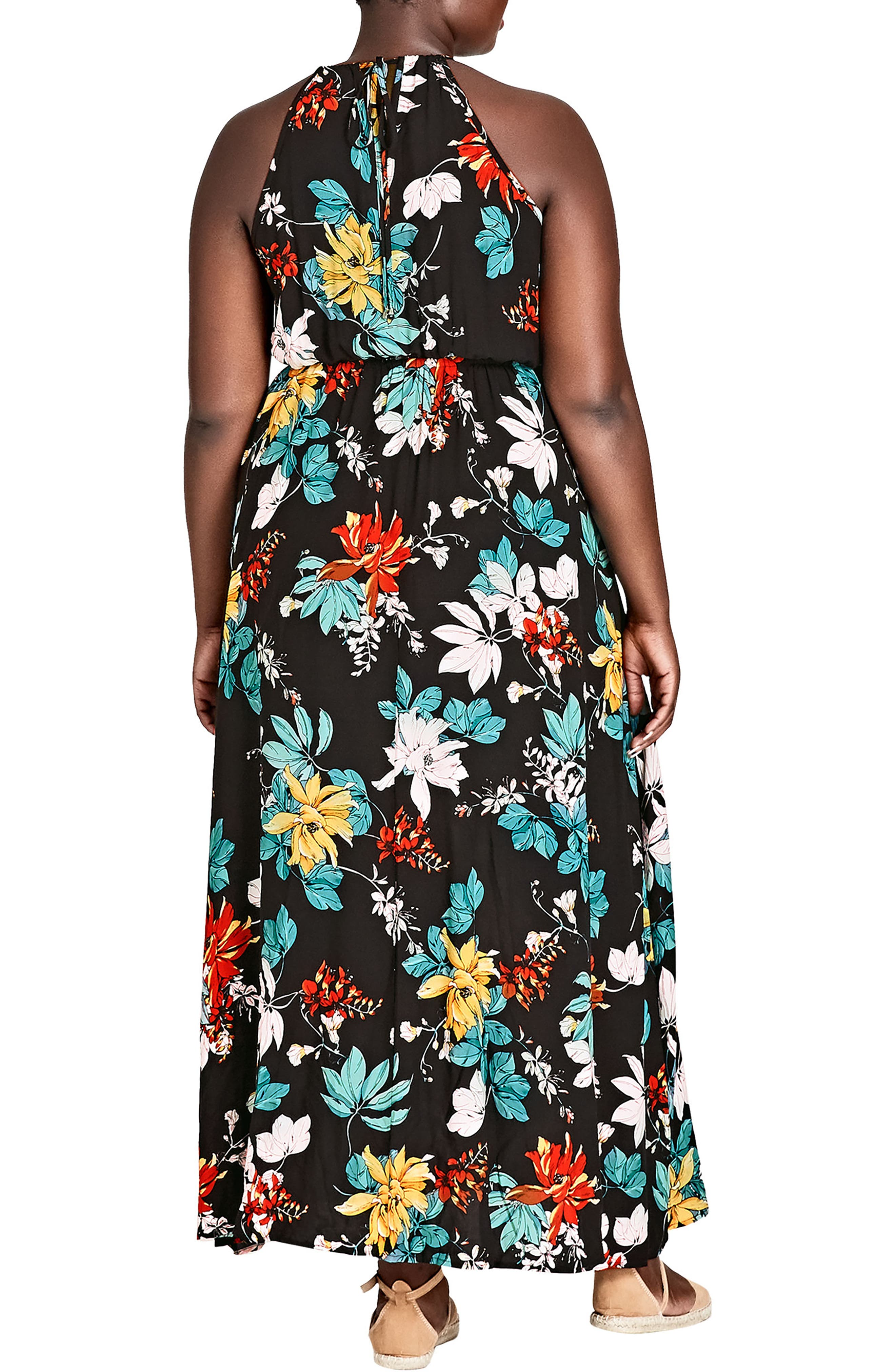 Tropical Night Maxi Dress,                             Alternate thumbnail 2, color,                             TROPIC NIGHT