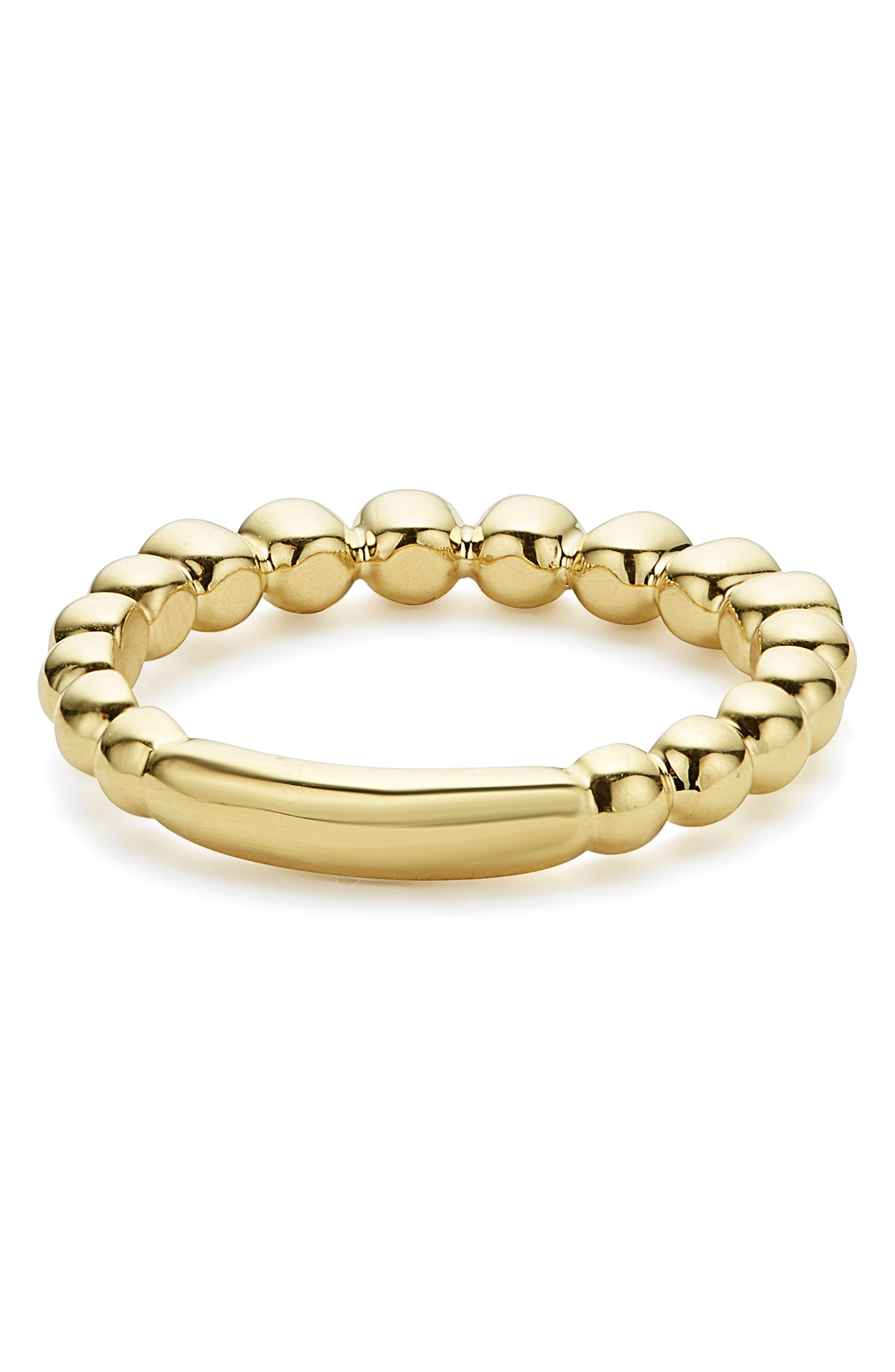 Black Diamond Caviar Stacking Ring,                             Alternate thumbnail 4, color,                             GOLD