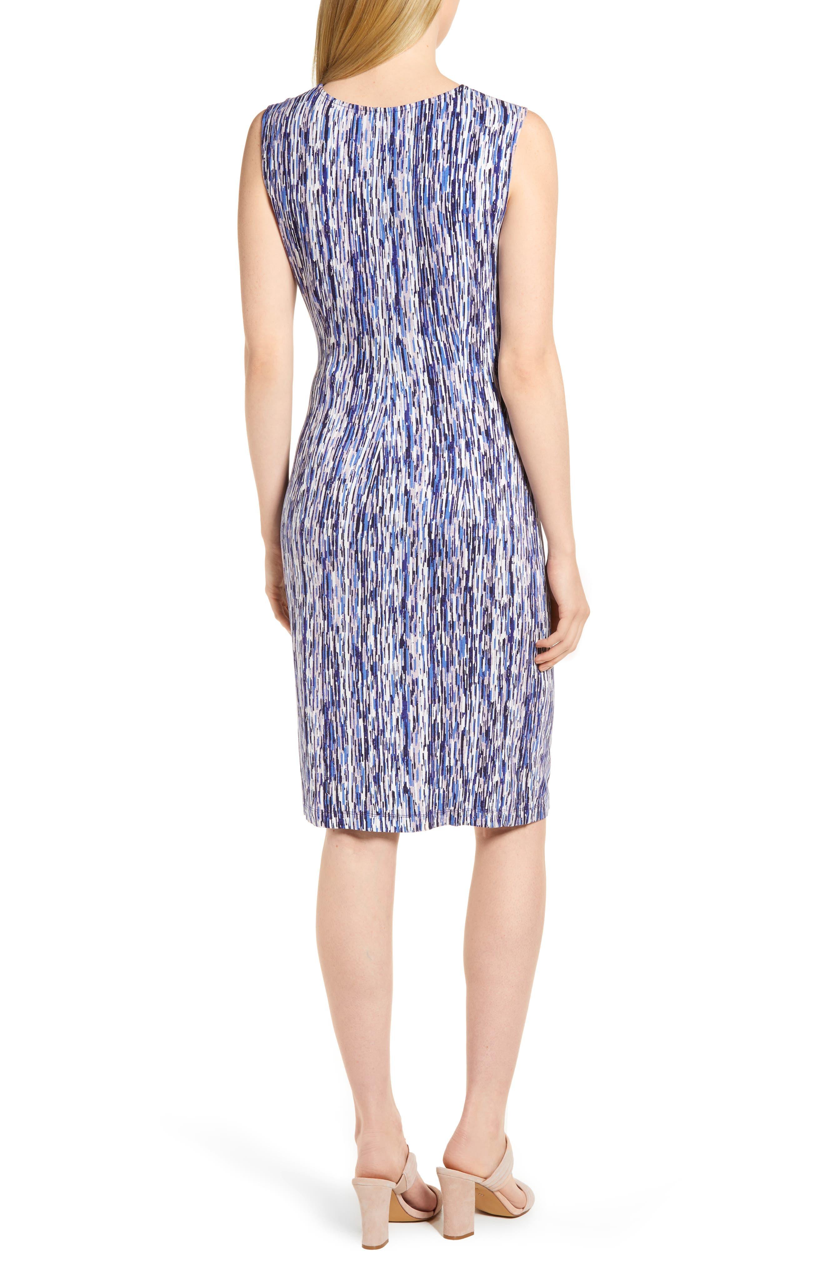 Sapphire Stripe Side Twist Dress,                             Alternate thumbnail 2, color,                             490