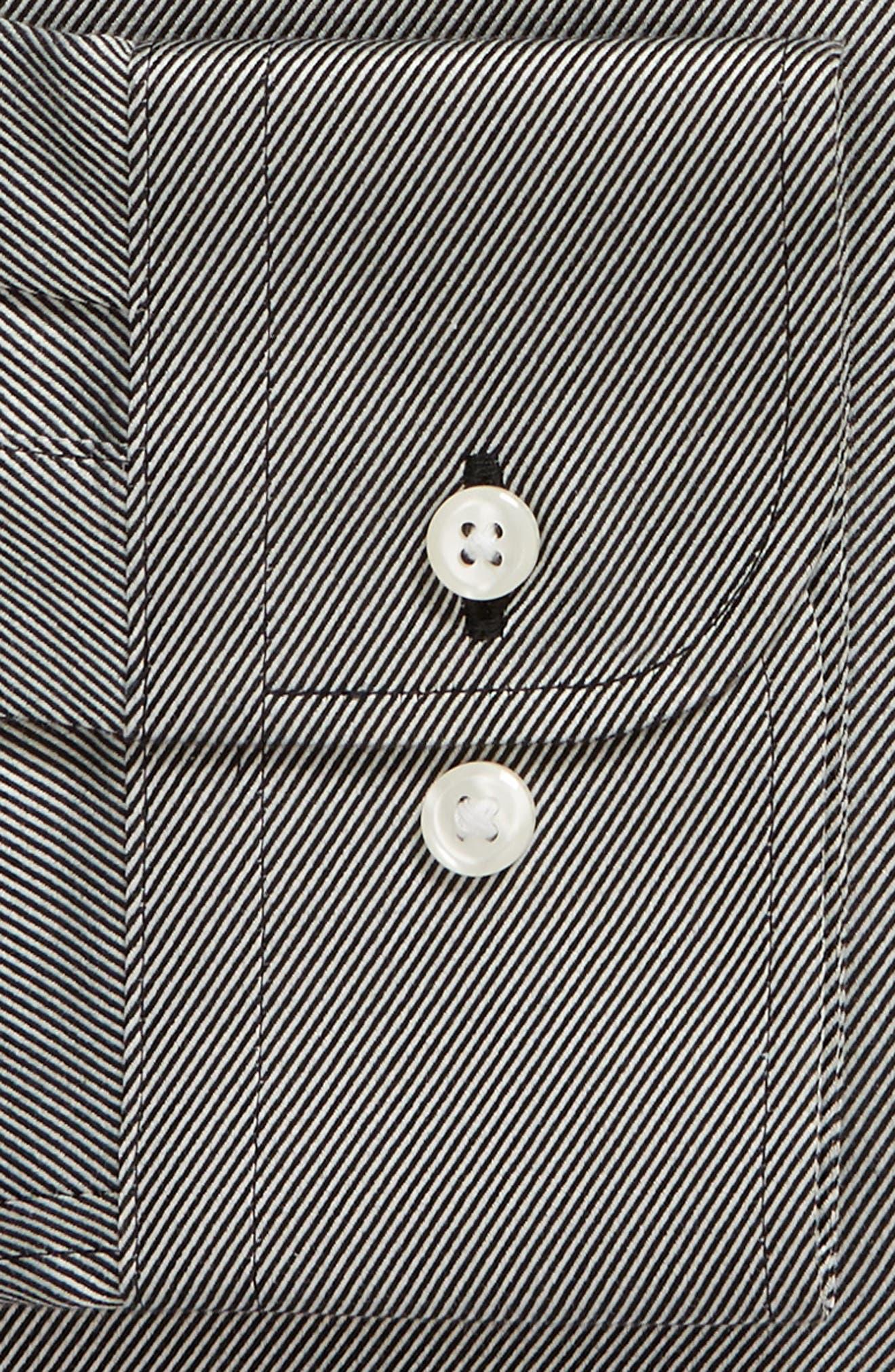 Trim Fit Twill Dress Shirt,                             Alternate thumbnail 6, color,                             001