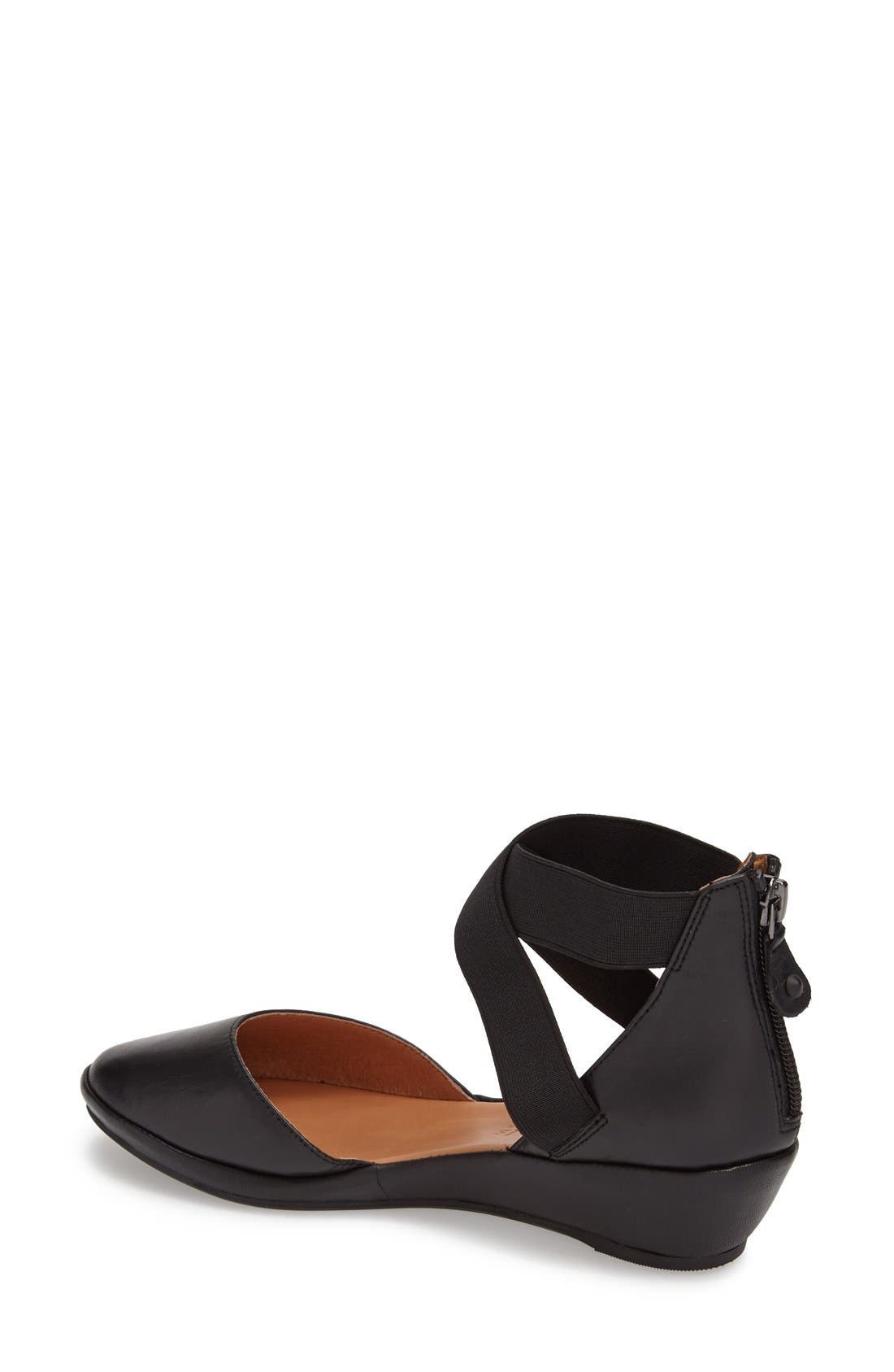 by Kenneth Cole 'Noa' Elastic Strap d'Orsay Sandal,                             Alternate thumbnail 2, color,                             BLACK