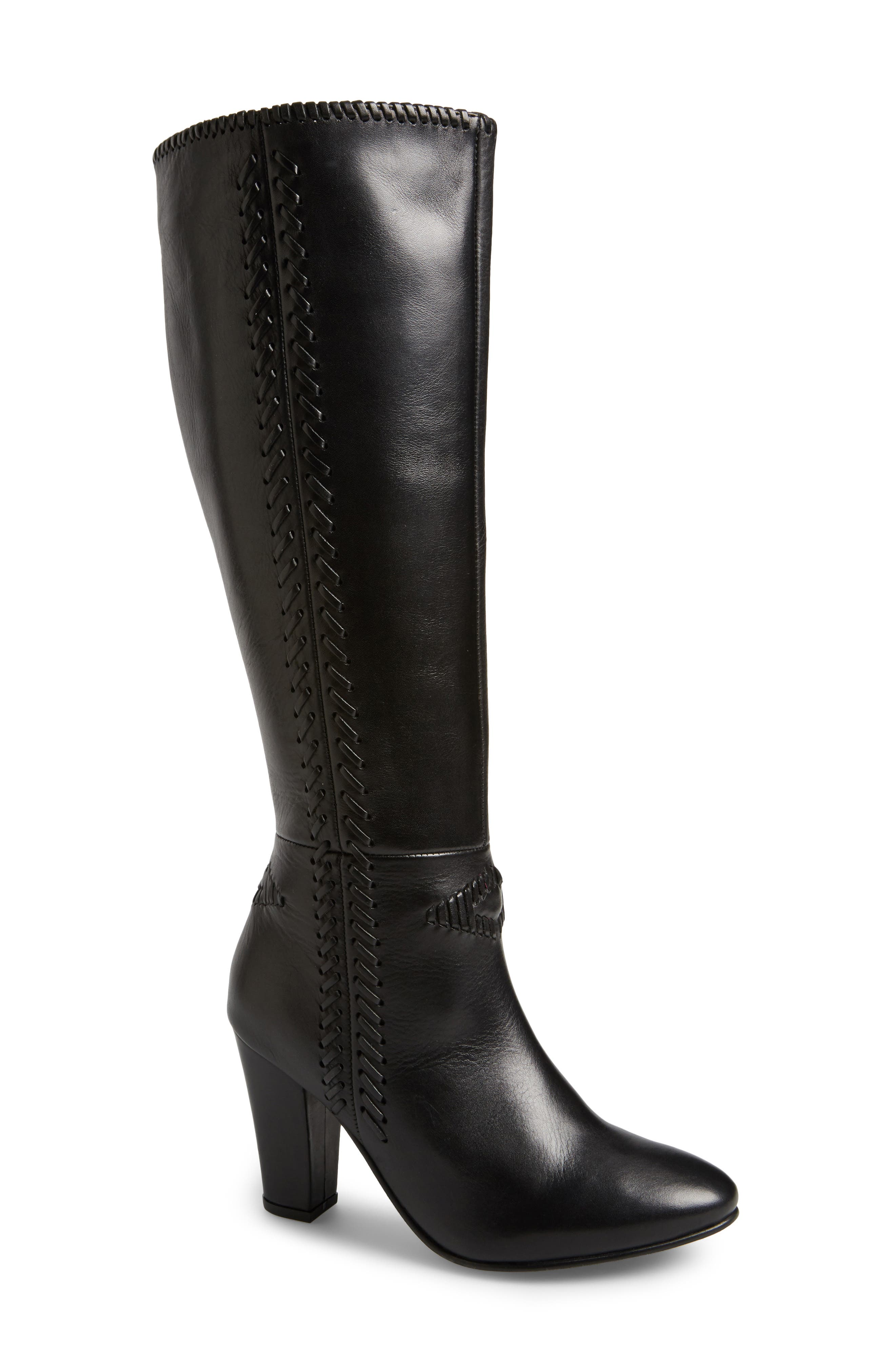 Reserved Knee High Boot,                             Main thumbnail 1, color,                             001