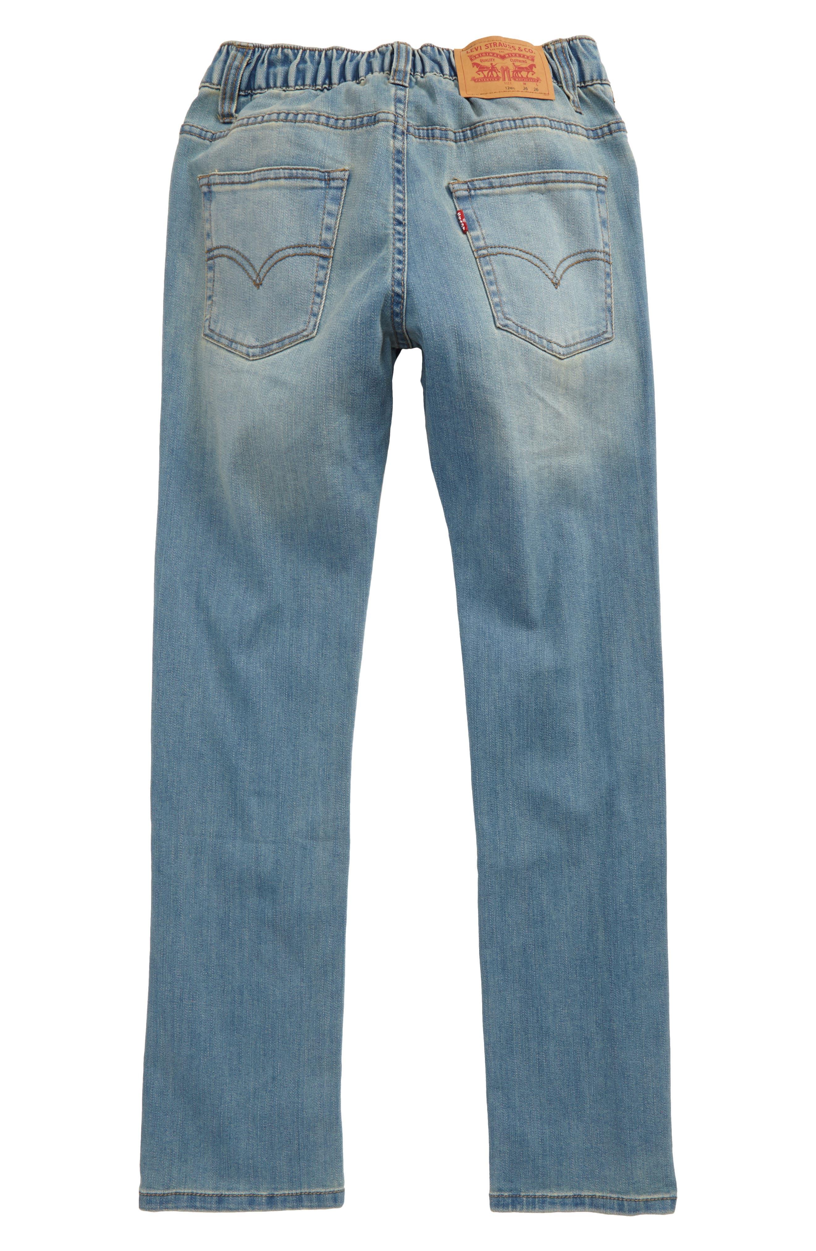 Comfort Slim Fit Straight Leg Jeans,                             Alternate thumbnail 4, color,