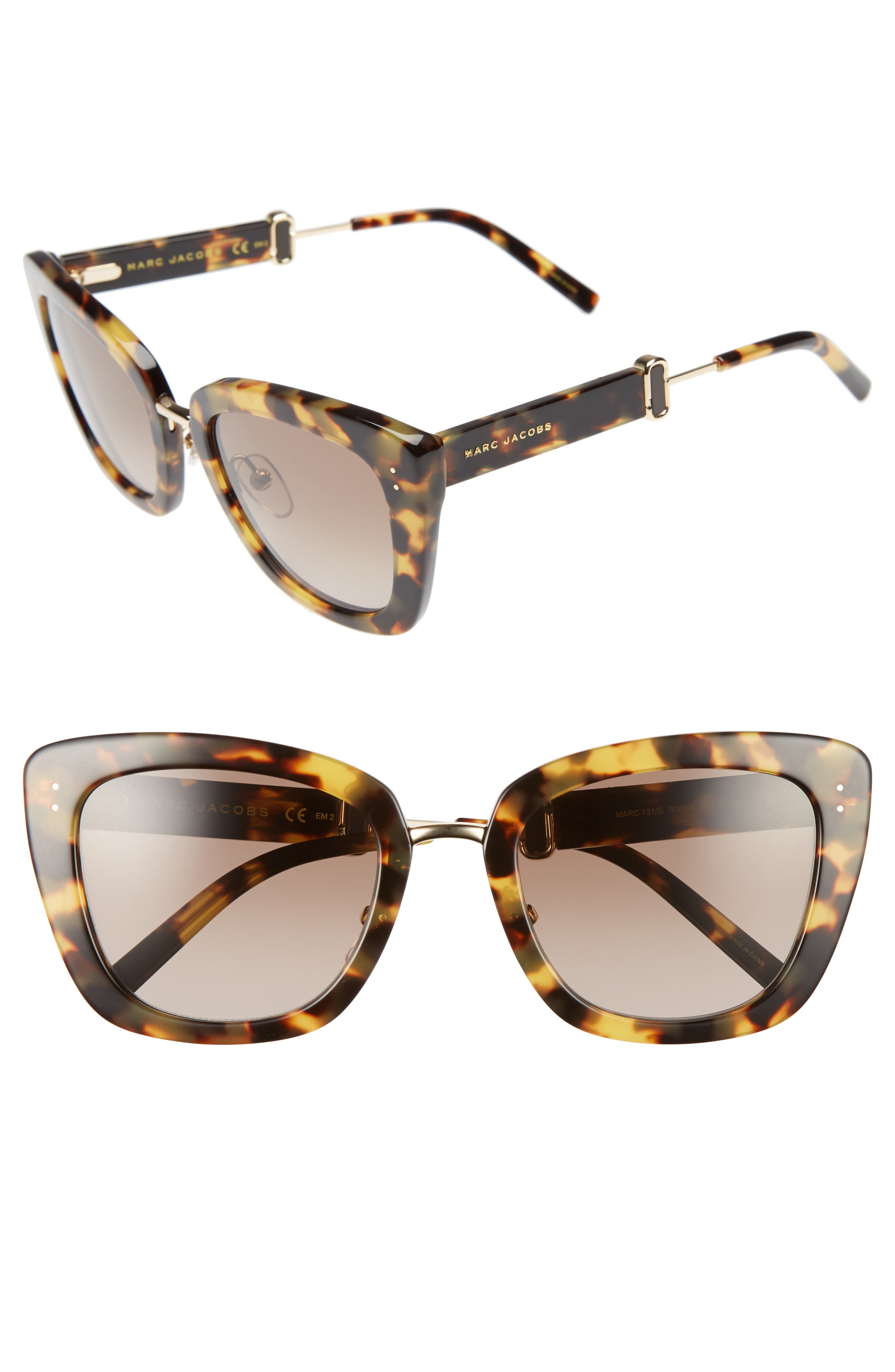 53mm Oversized Sunglasses,                             Main thumbnail 2, color,