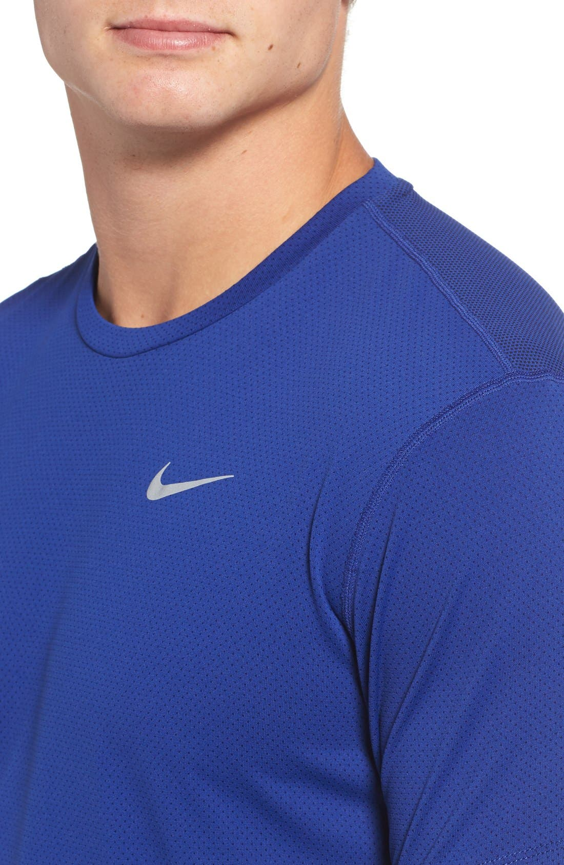 'Contour' Mesh Dri-FIT Running T-Shirt,                             Alternate thumbnail 19, color,
