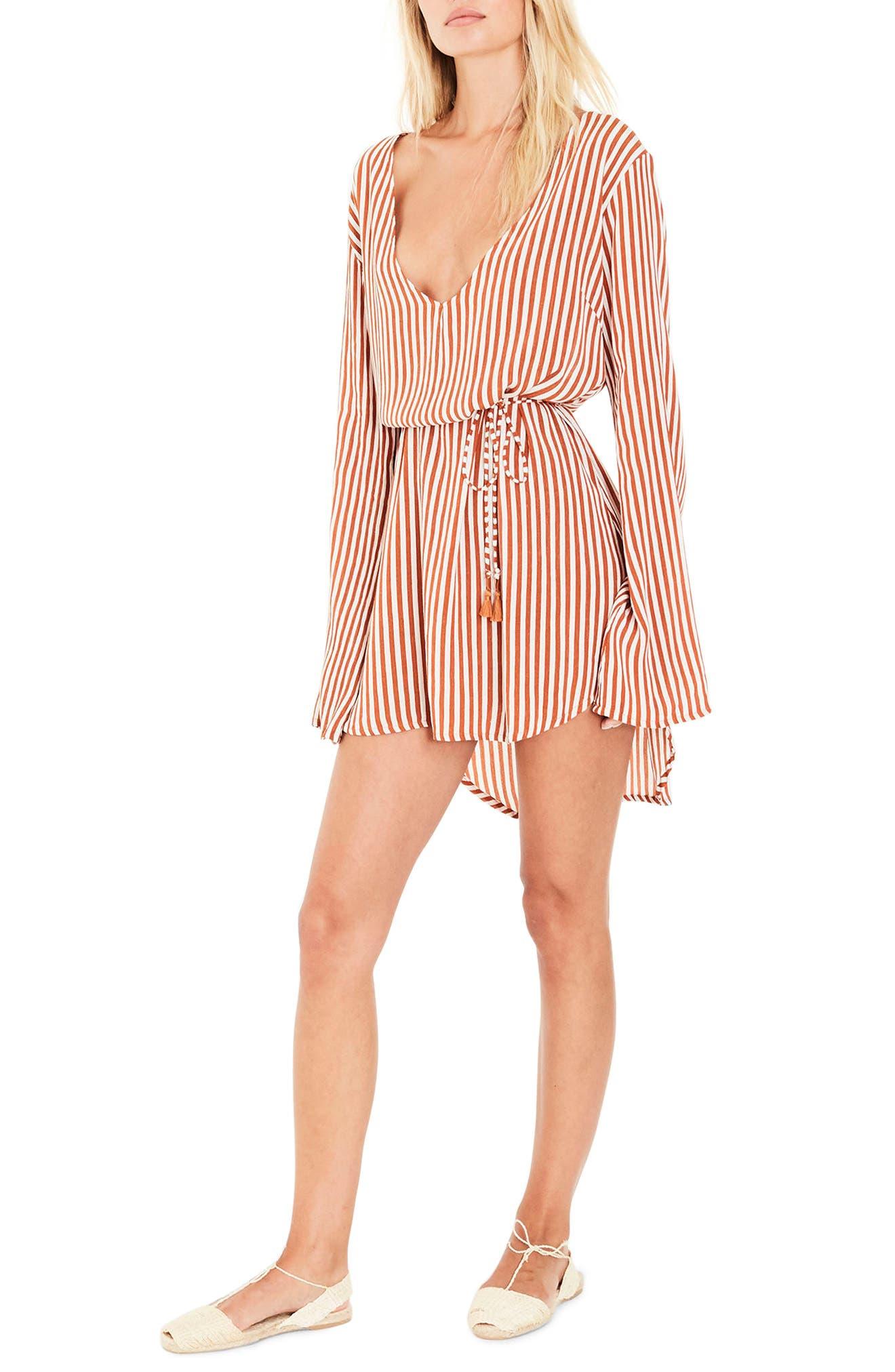 Apart Stripe Dress,                             Alternate thumbnail 3, color,                             801
