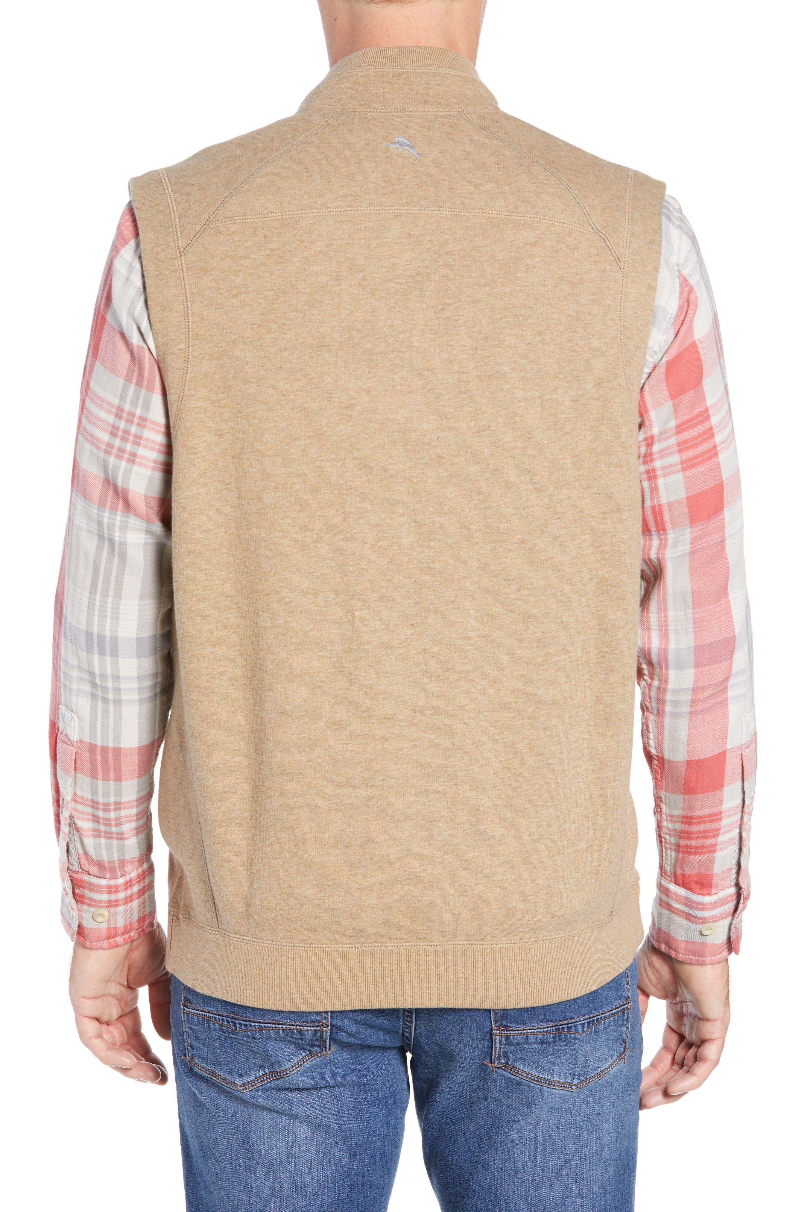 Flip Side Reversible Zip Vest,                             Alternate thumbnail 3, color,                             GOLDEN HONEY HEATHER