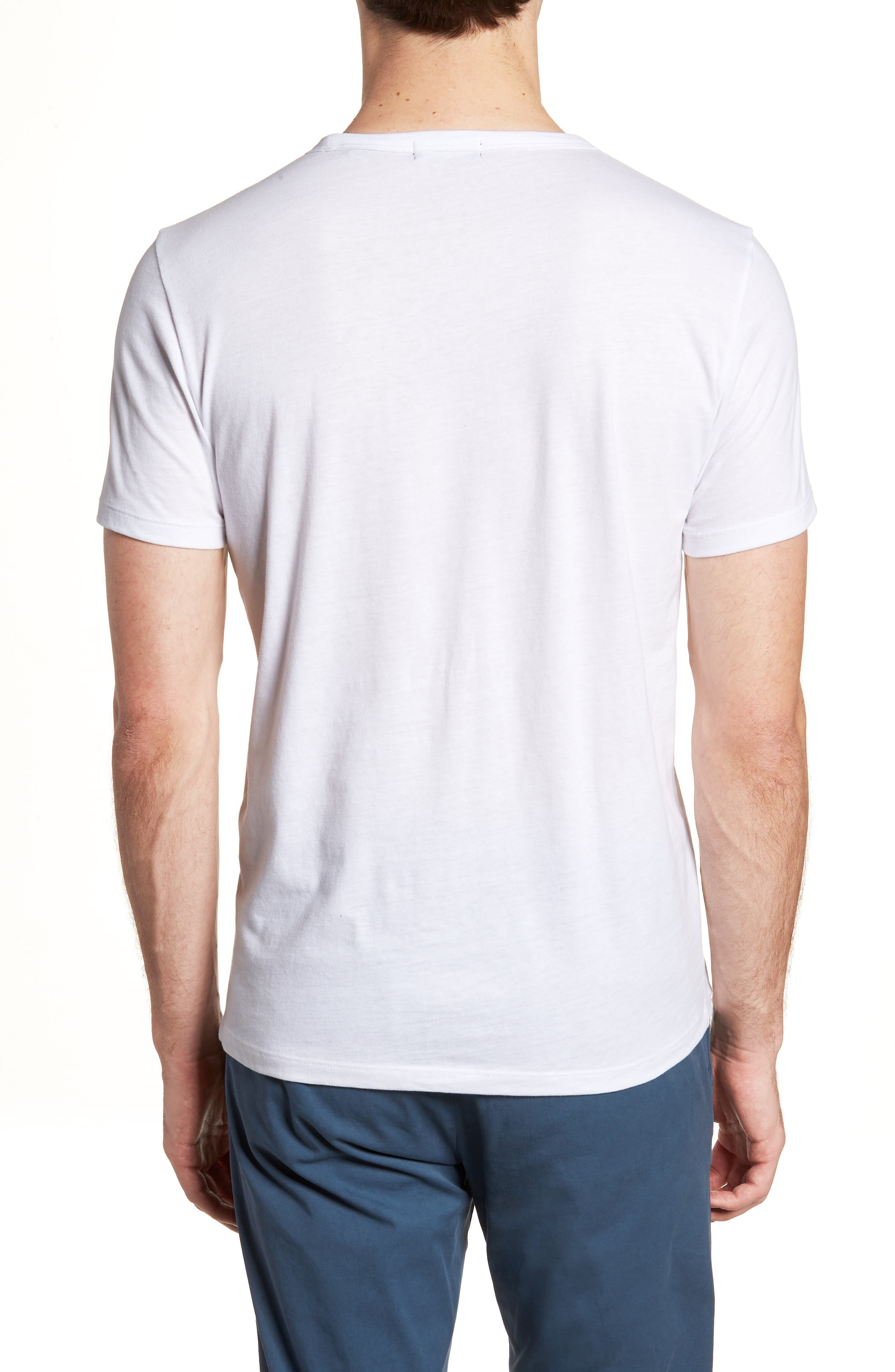 Essential Regular Fit T-Shirt,                             Alternate thumbnail 2, color,                             WHITE