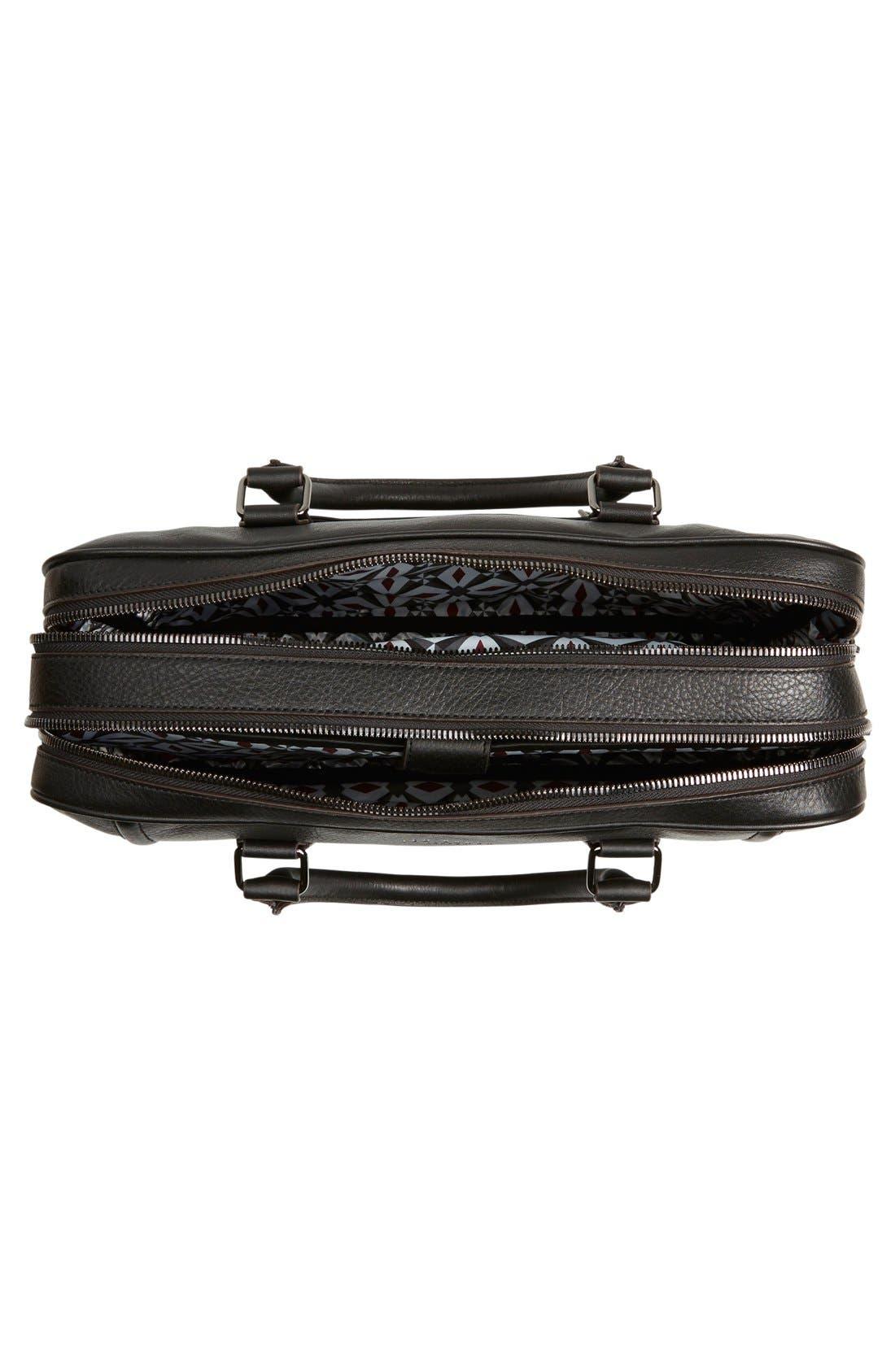 'Ragna' Leather Bowler Bag,                             Alternate thumbnail 4, color,                             001