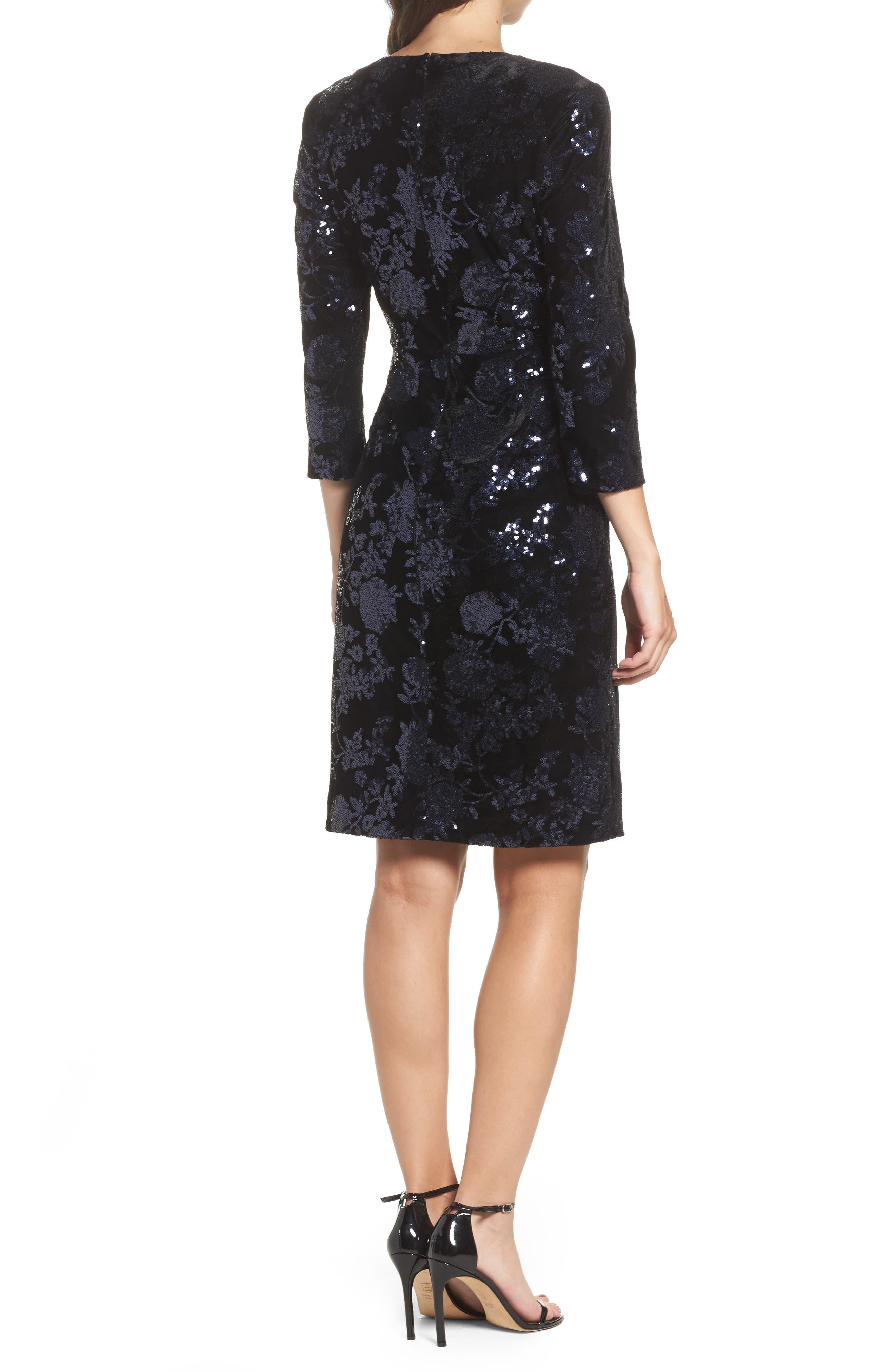 Sequin Embellished Sheath Dress,                             Alternate thumbnail 2, color,                             001