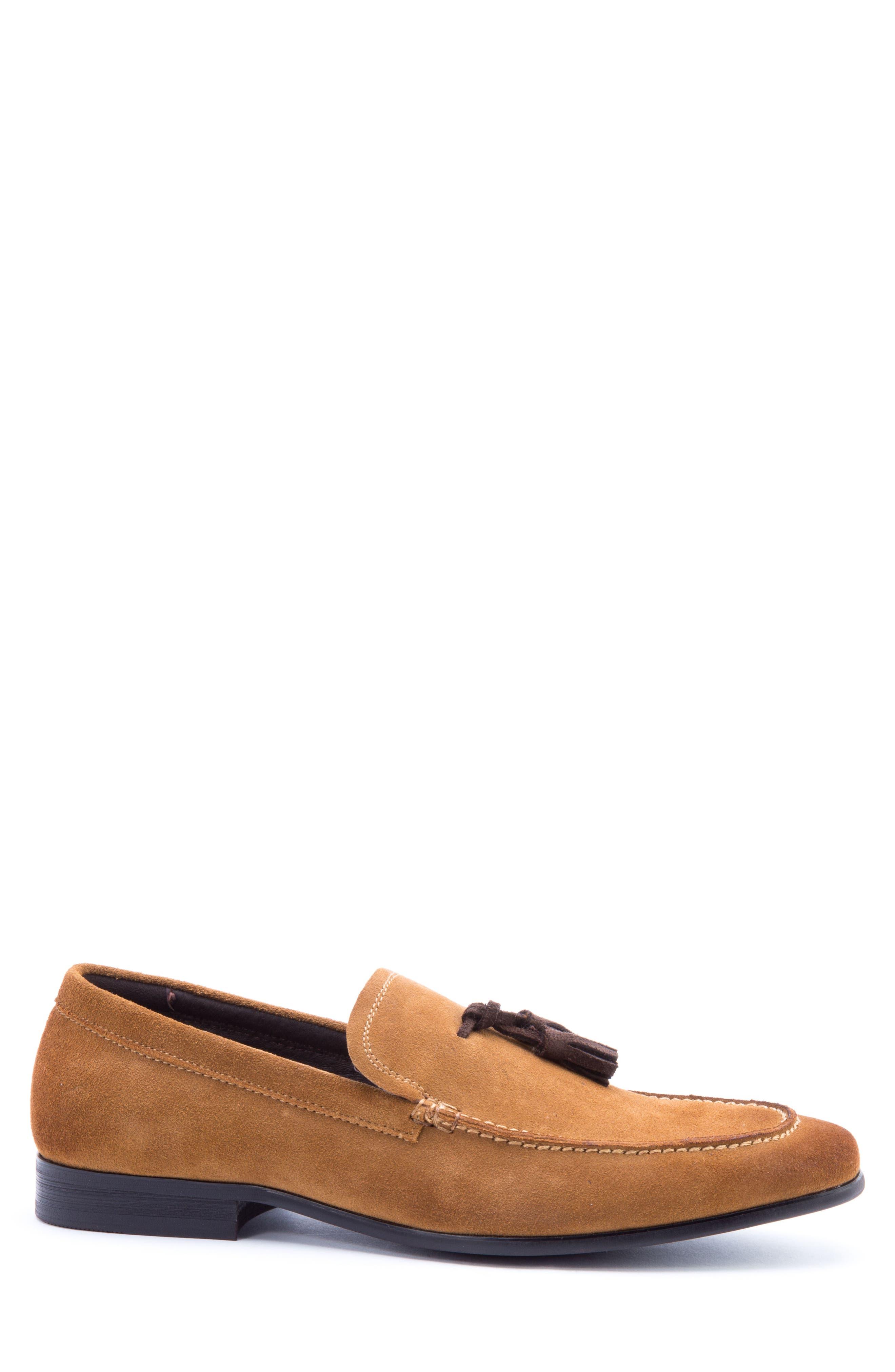 Severn Tassel Venetian Loafer,                             Alternate thumbnail 3, color,                             COGNAC SUEDE