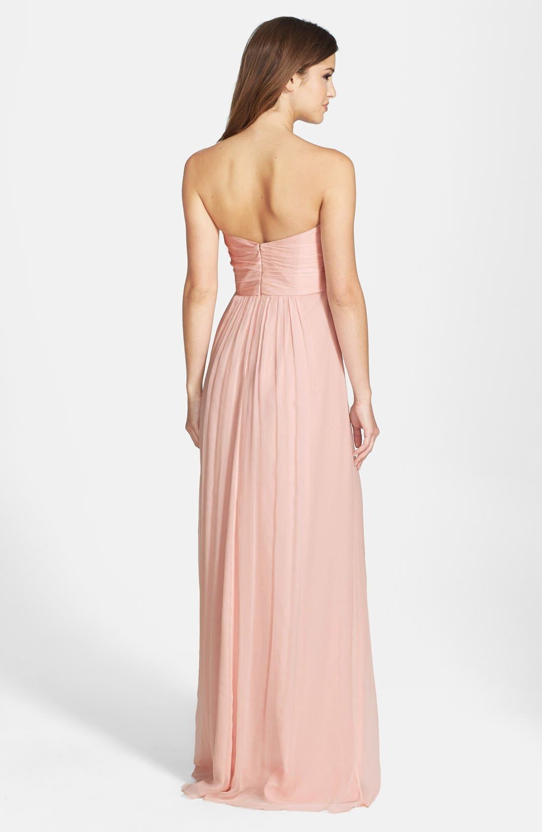 Strapless Crinkle Chiffon Gown,                             Alternate thumbnail 48, color,