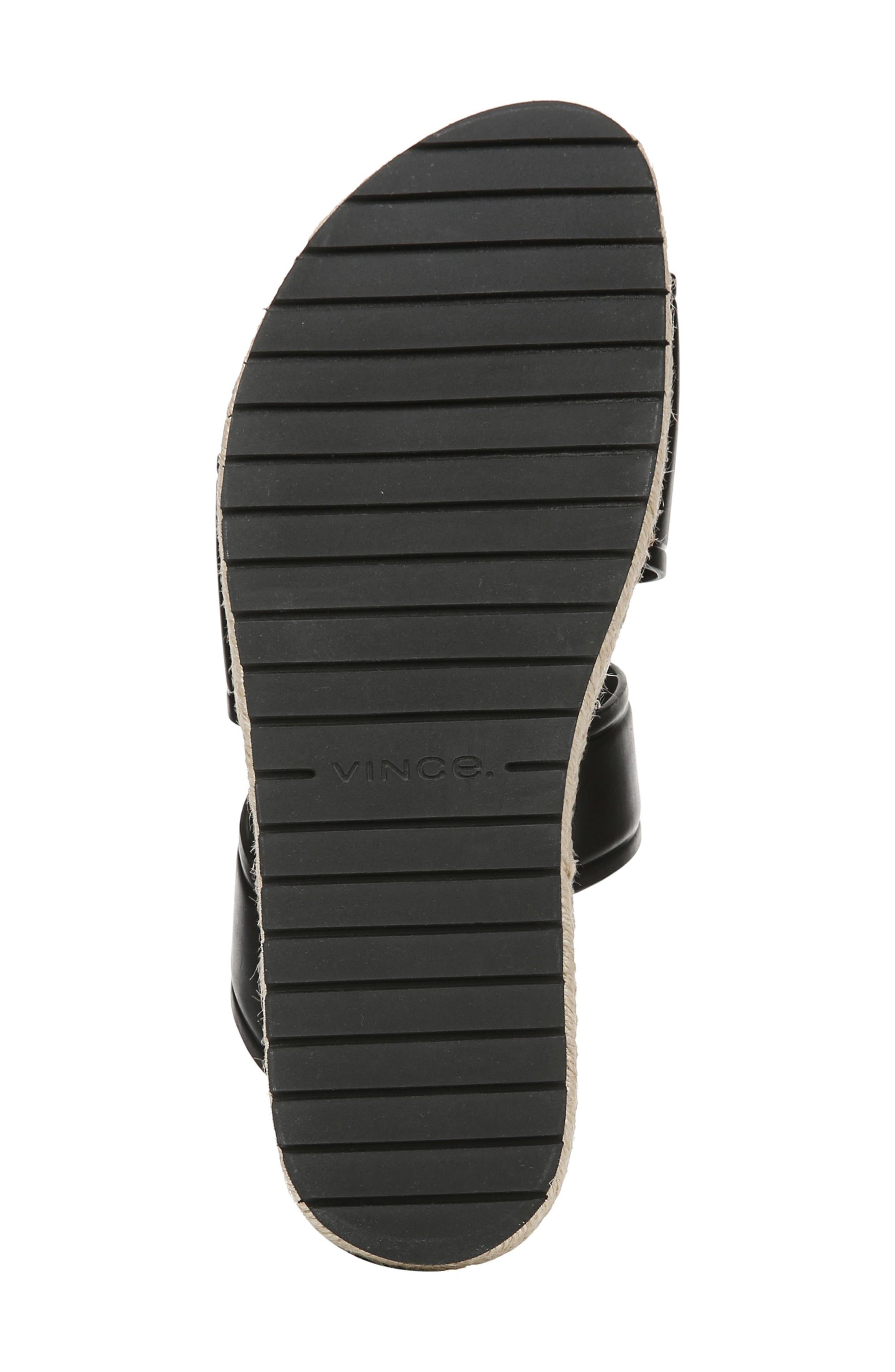 VINCE,                             Floyd Platform Slide Sandal,                             Alternate thumbnail 6, color,                             BLACK
