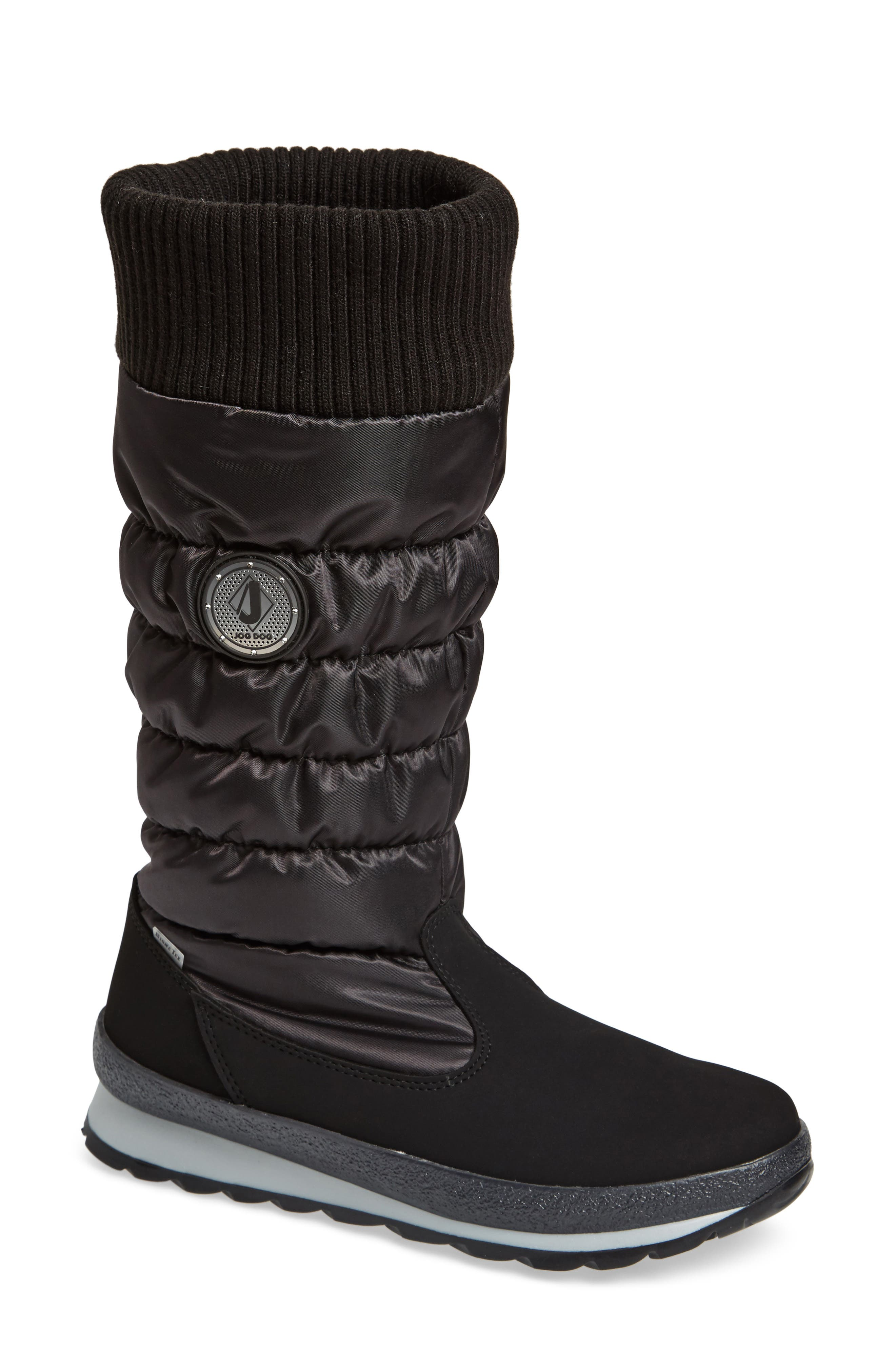 St. Anton Waterproof Winter Boot,                             Main thumbnail 1, color,                             BLACK/ ANTHRACITE