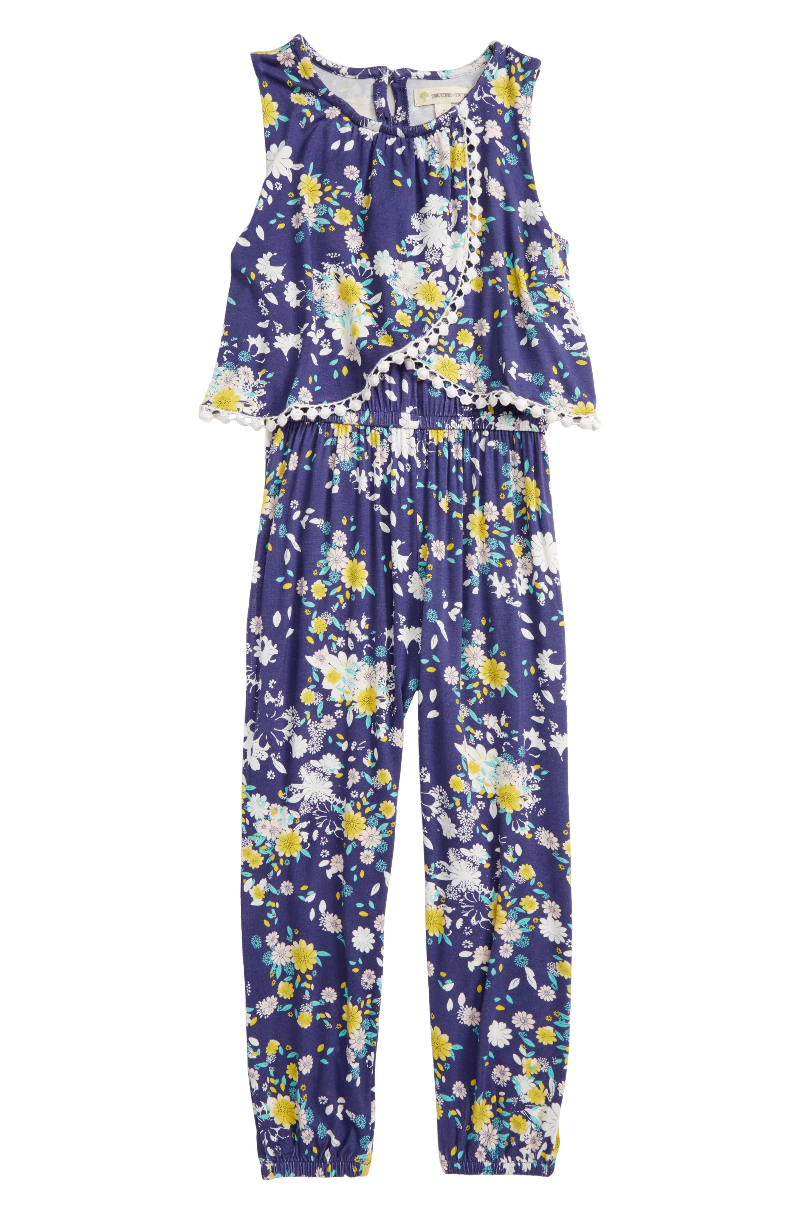 Pom Overlay Jumpsuit,                             Main thumbnail 1, color,                             410