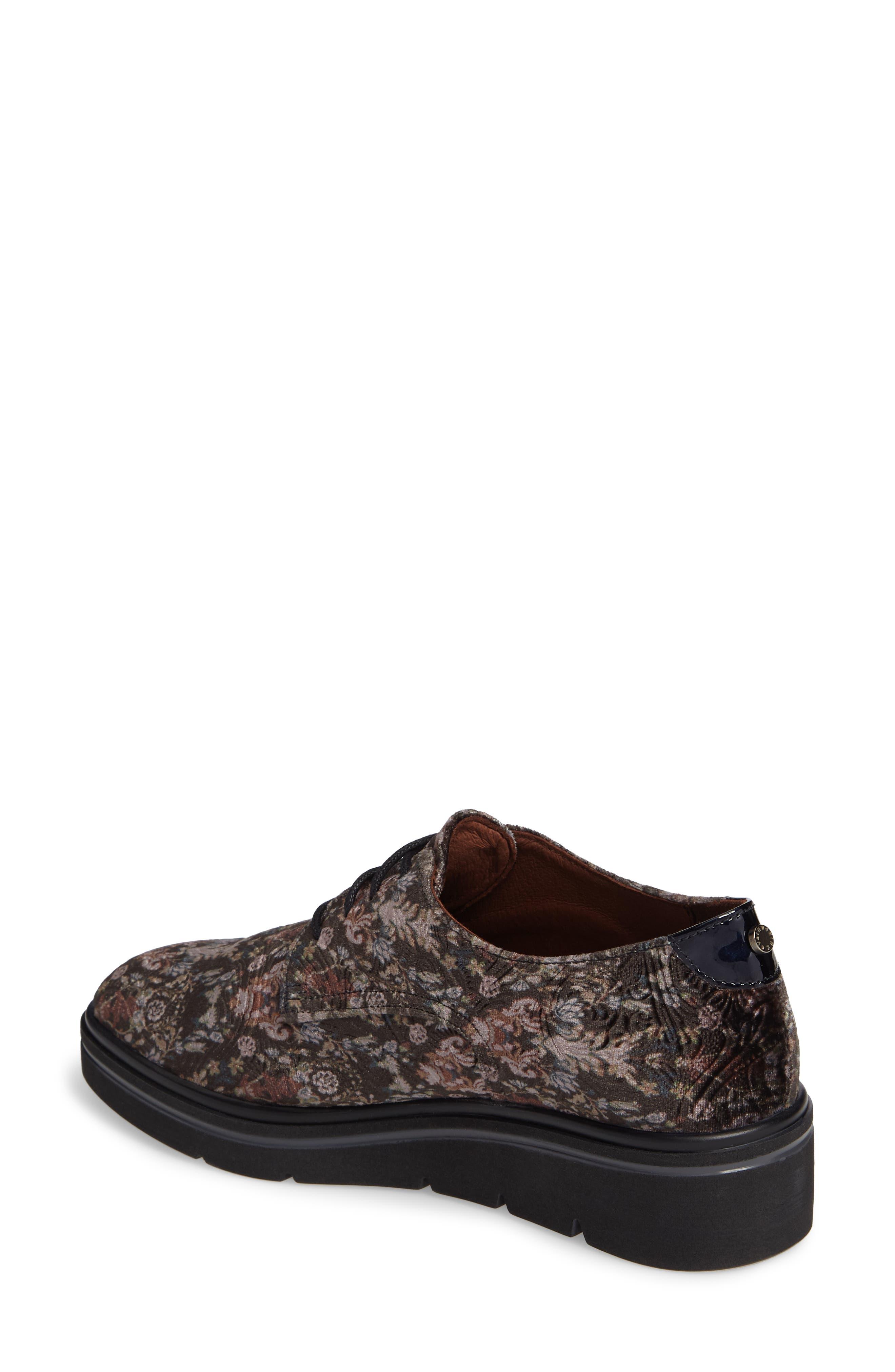 Richelle Oxford Sneaker,                             Alternate thumbnail 2, color,                             GREY FABRIC