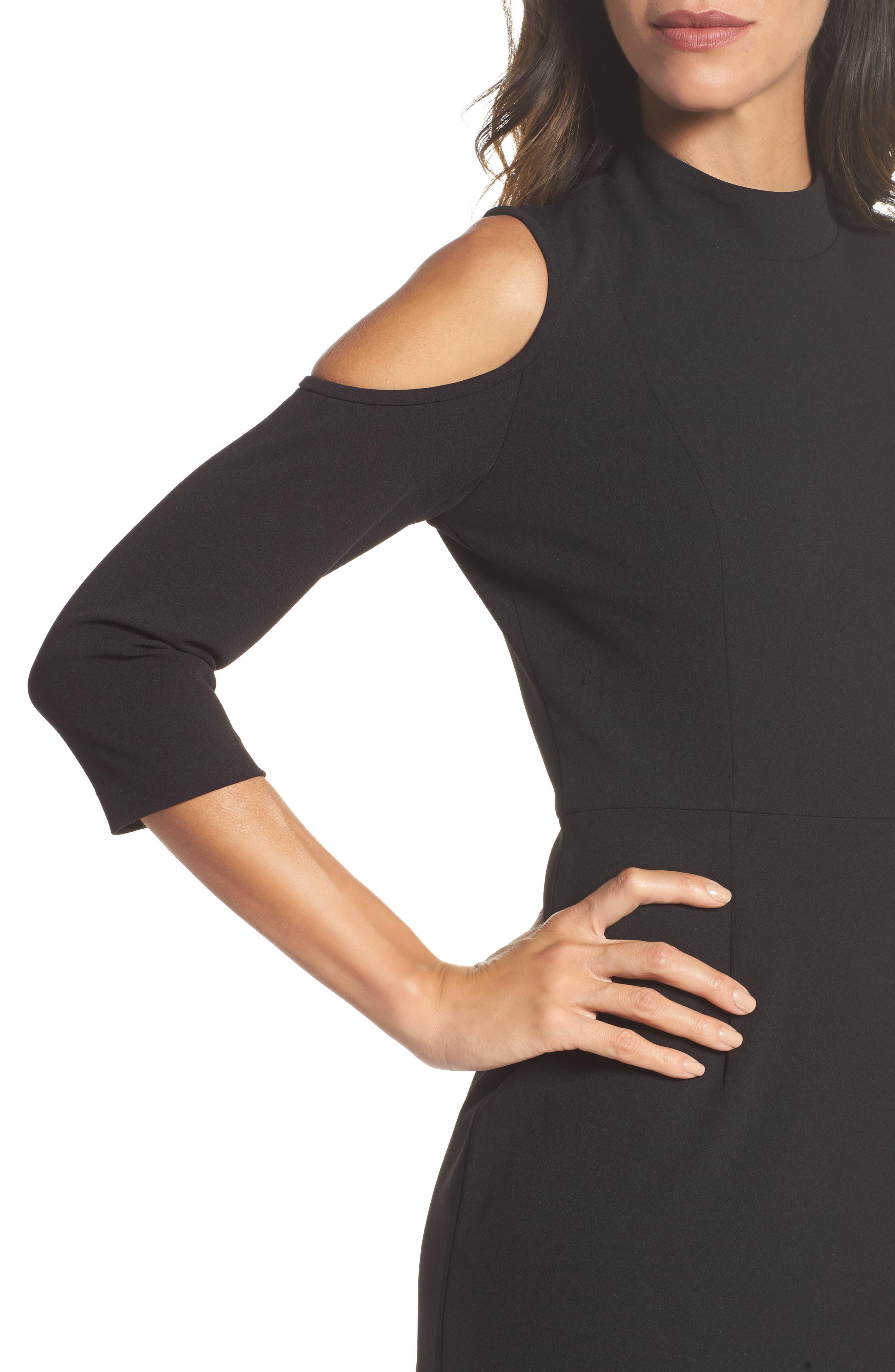 Cold Shoulder Sheath Dress,                             Alternate thumbnail 4, color,